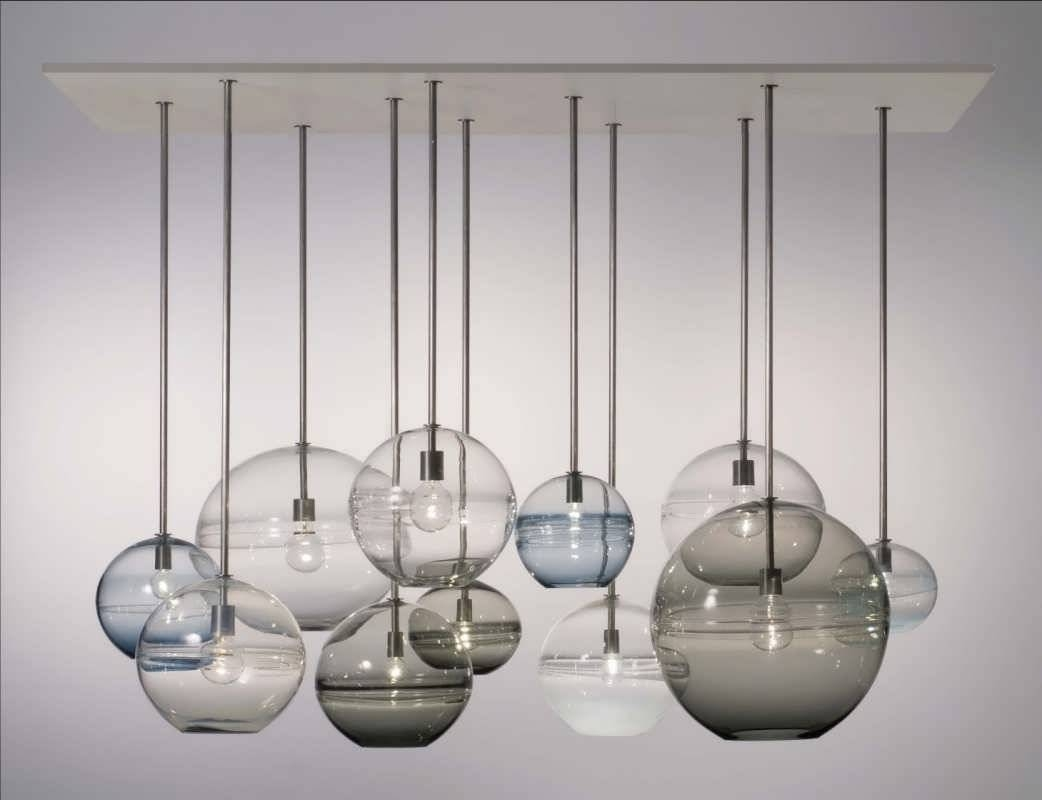 Chandelier : Glass Pendant Lamp Shades Blue Glass Pendant Light Regarding Glass Pendant Lighting Fixtures (View 9 of 15)