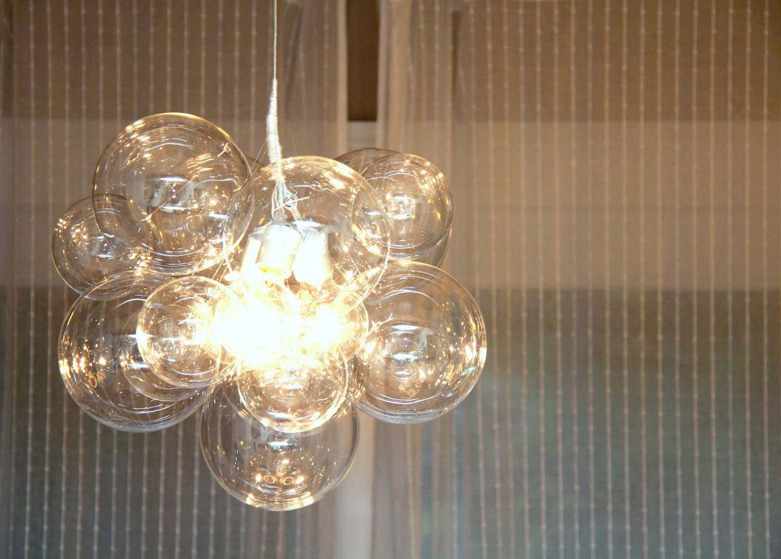 Chandeliers Design : Fabulous Img Glass Ball Chandelier Throughout Bubble Pendant Light Fixtures (View 9 of 15)