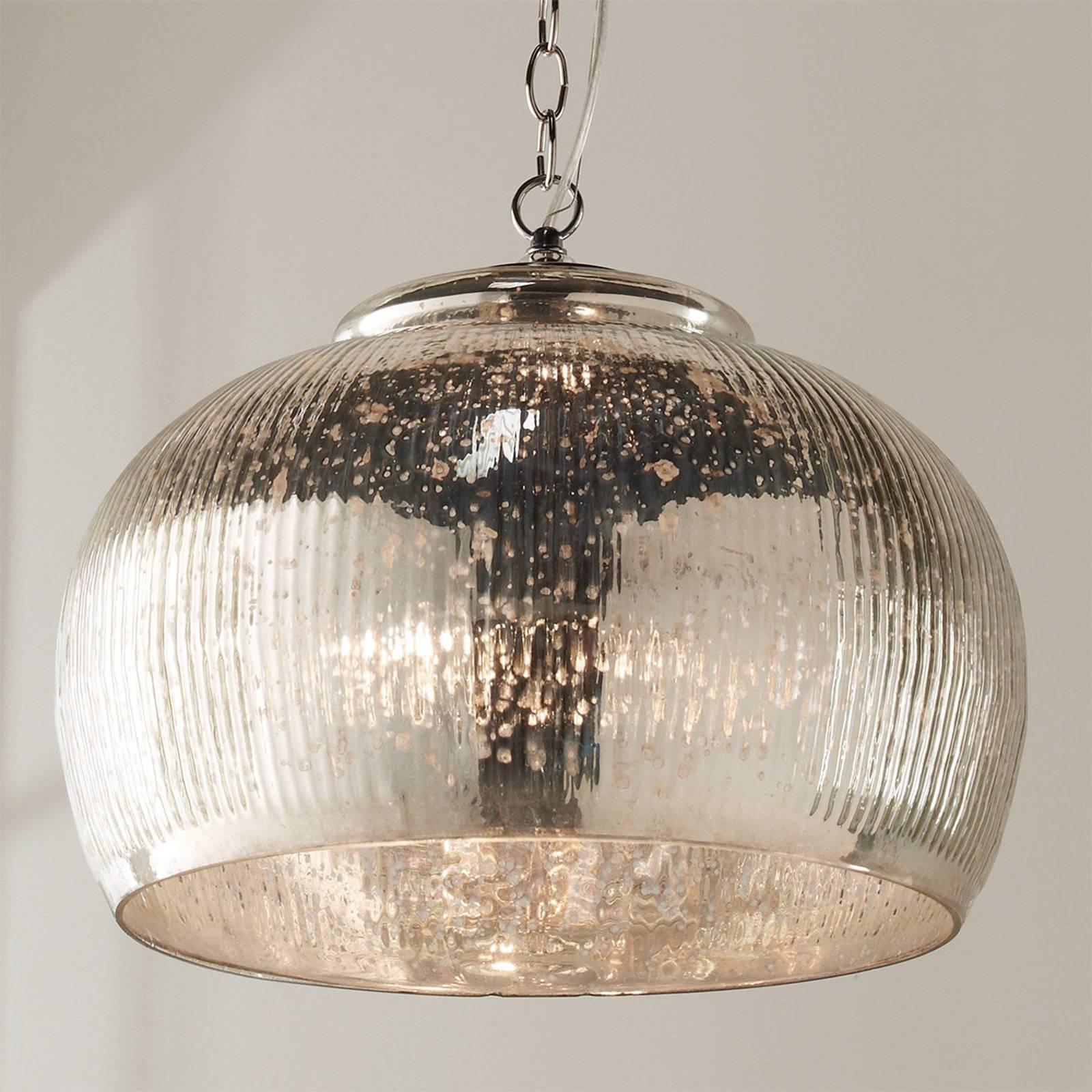 Chandeliers Design : Magnificent Fancy Mercury Glass Light throughout Mercury Glass Pendant Light Fixtures (Image 5 of 15)