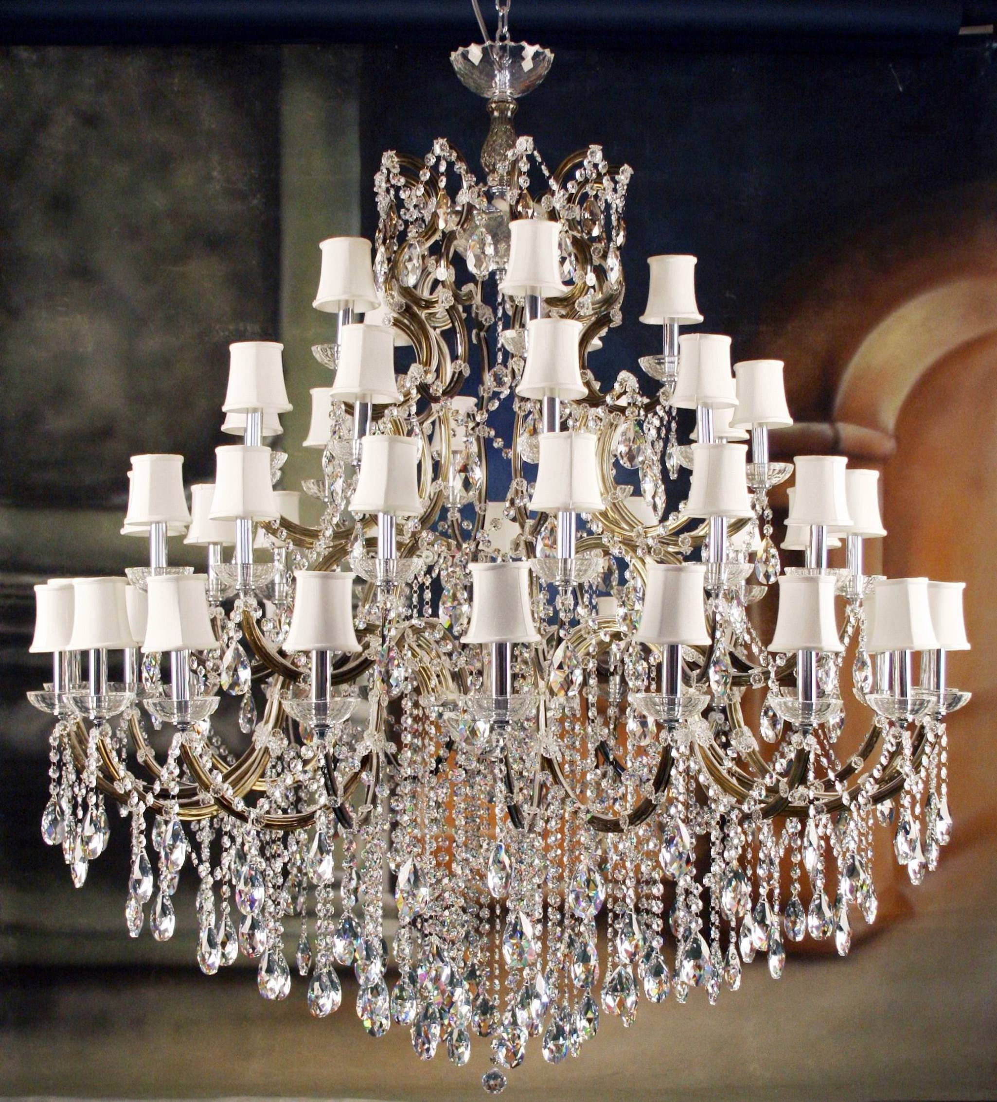 Chandeliers Design : Magnificent Hanging Chain Lamps And Throughout Beaded Pendant Light Shades (View 13 of 15)