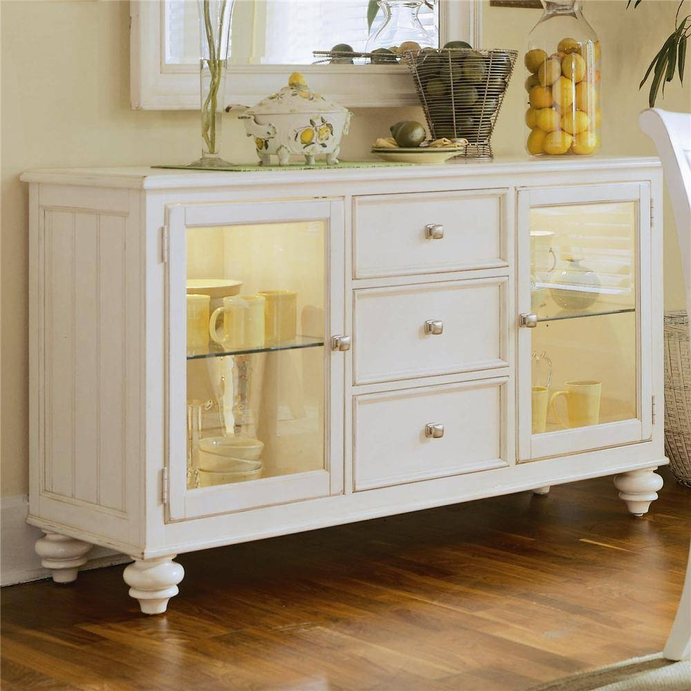 China Buffet/credenza With 2 Glass Doorsamerican Drew | Wolf regarding White Sideboards With Glass Doors (Image 5 of 15)
