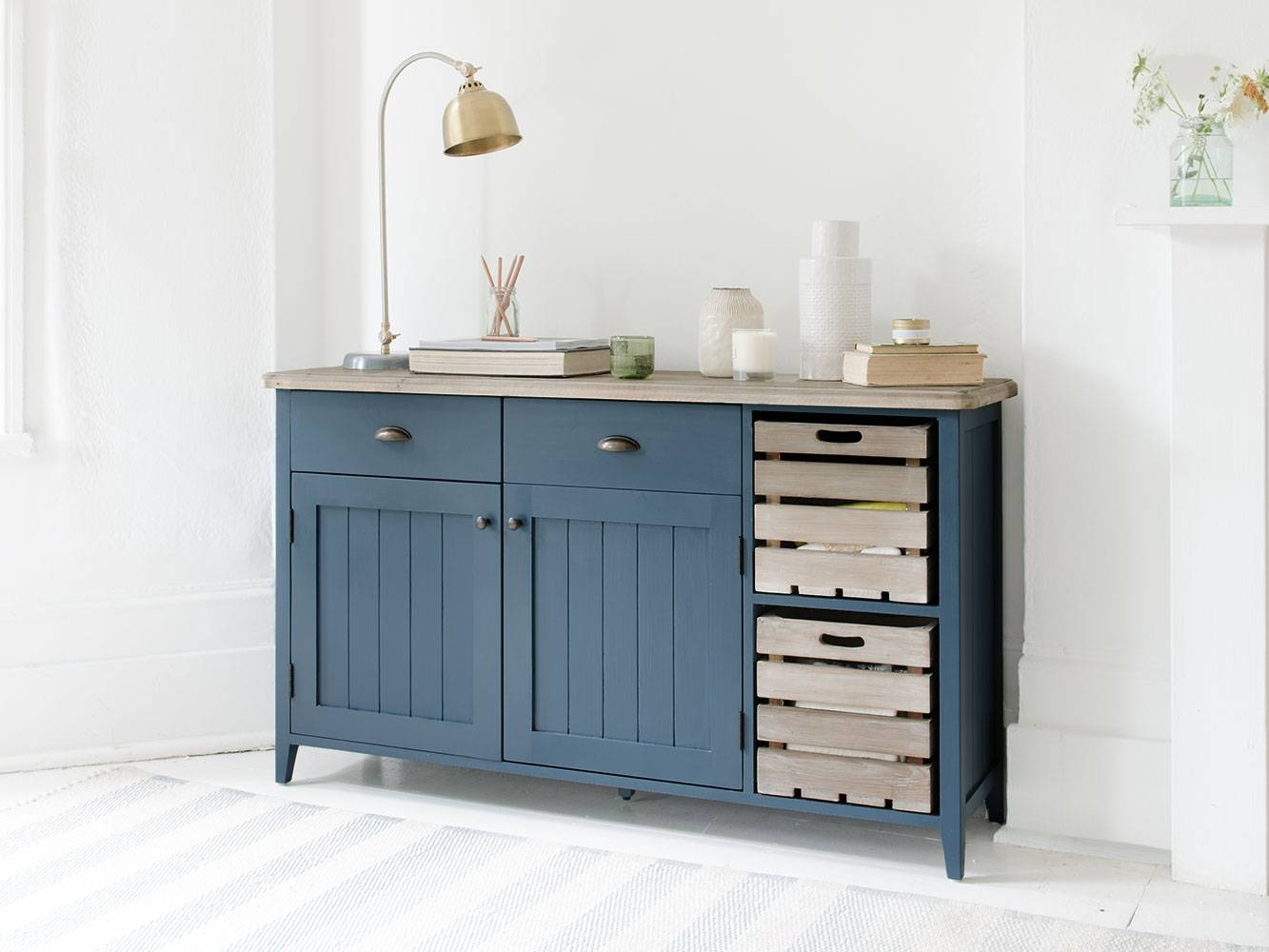 Cidre Sideboard In Inky Blue   Painted Sideboard   Loaf With Painted Sideboards (View 6 of 15)