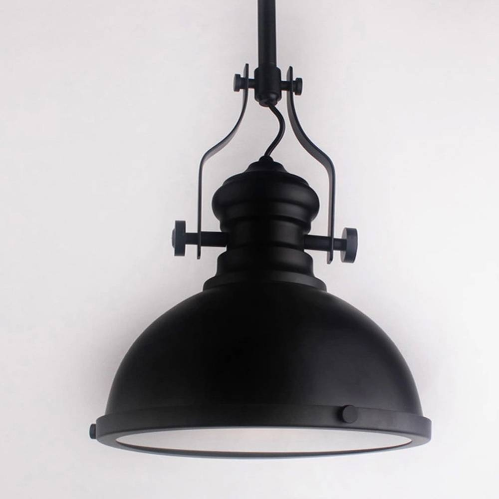 Classic Black Loft America Country Industrial Pendant Light Drop for Country Pendant Lighting (Image 3 of 15)