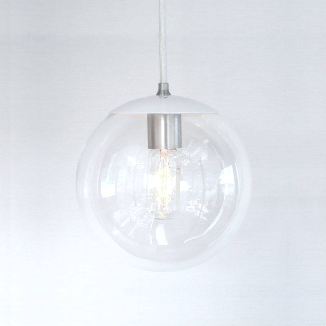 Clear Glass Globe Pendant Light – Aneilve Intended For Glass Bowl Pendant Lights (View 4 of 15)