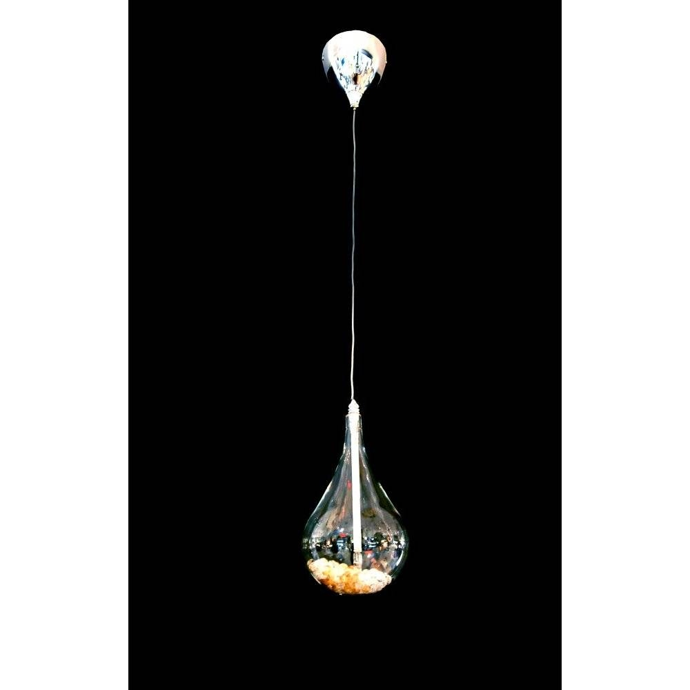 Clear Glass throughout Crystal Teardrop Pendant Lights (Image 3 of 15)