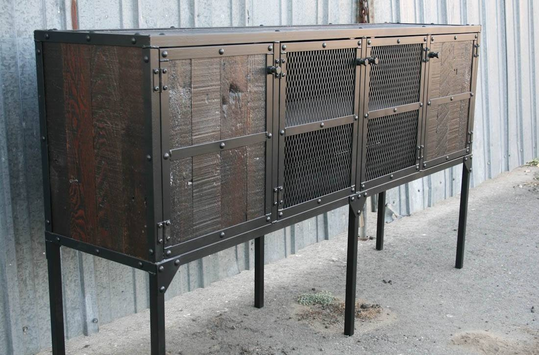 Combine 9 | Industrial Furniture – Tall Leg Reclaimed Wood Buffet With Reclaimed Sideboards (Photo 4 of 15)