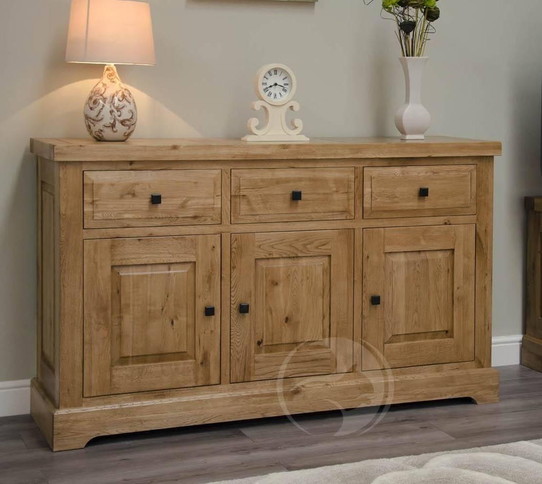 Coniston Rustic Solid Oak Large Sideboard | Oak Furniture Uk in Rustic Oak Large Sideboards (Image 3 of 15)