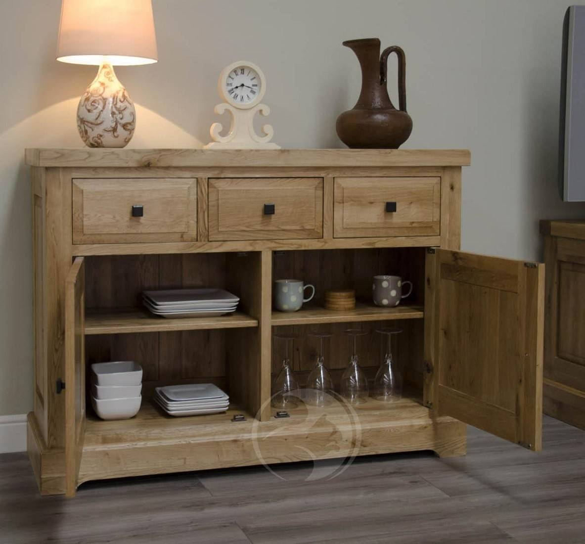 Coniston Rustic Solid Oak Medium Sideboard | Oak Furniture Uk with regard to Rustic Sideboard Furniture (Image 3 of 15)