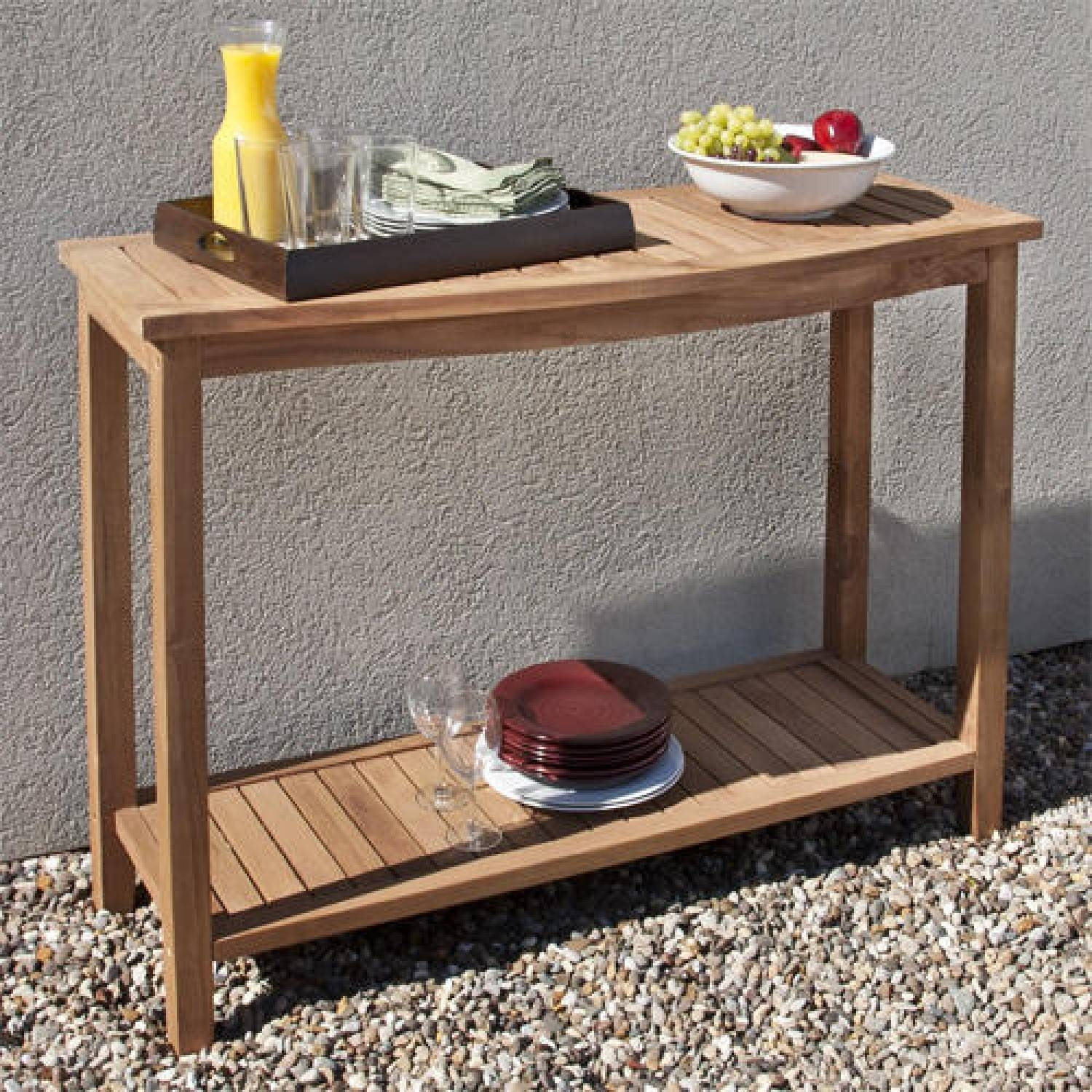 Console Tables : Outdoor Buffet Console Table For Bbq Party Blue Intended For Outdoor Sideboard Tables (View 15 of 15)