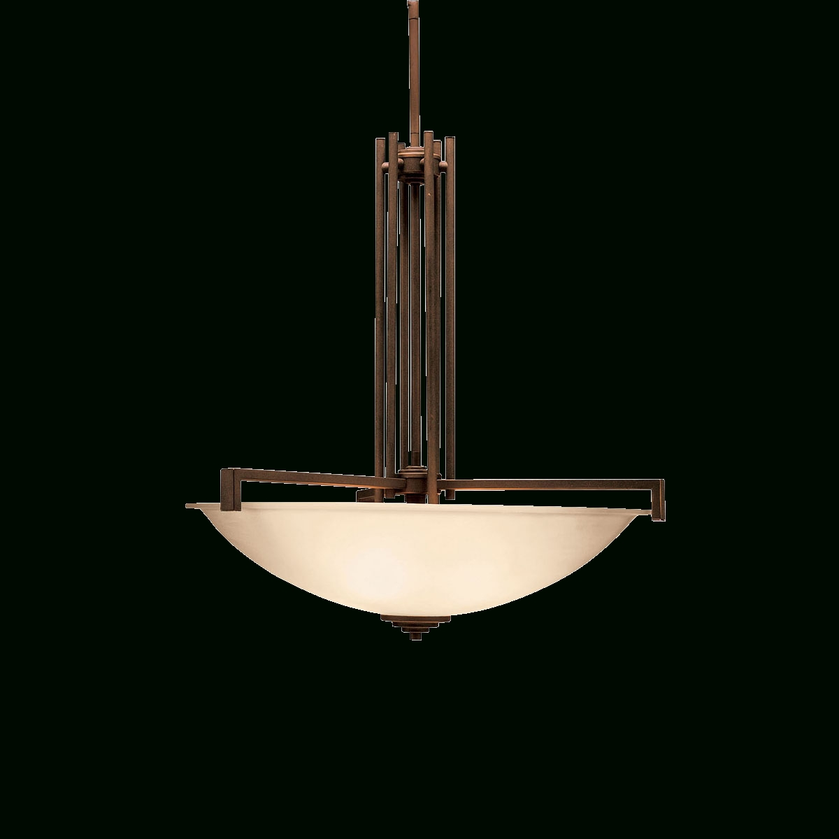 Contemporary 4 Light Inverted Pendant (3299Ni) Brushed Nickel intended for Inverted Pendant Lighting (Image 3 of 15)