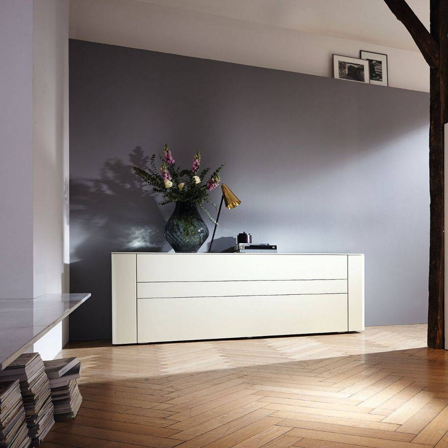 Contemporary Sideboard / Lacquered Wood / White - Gentis - Hülsta intended for Hulsta Sideboards (Image 2 of 15)