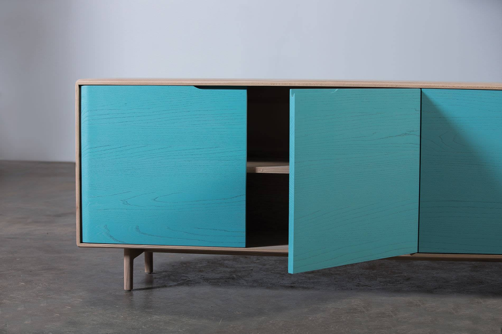 Contemporary Sideboard / Oak / Walnut / Solid Wood – Invito Inside Turquoise Sideboards (View 6 of 15)