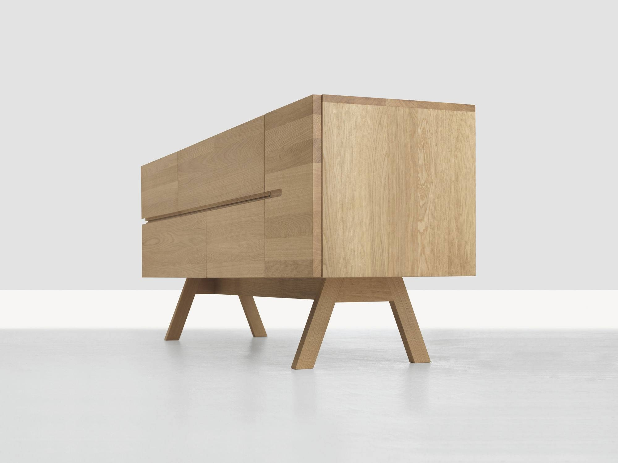 Contemporary Sideboard / Solid Wood – Low Atelierformstelle With Regard To Solid Wood Sideboards (View 10 of 15)