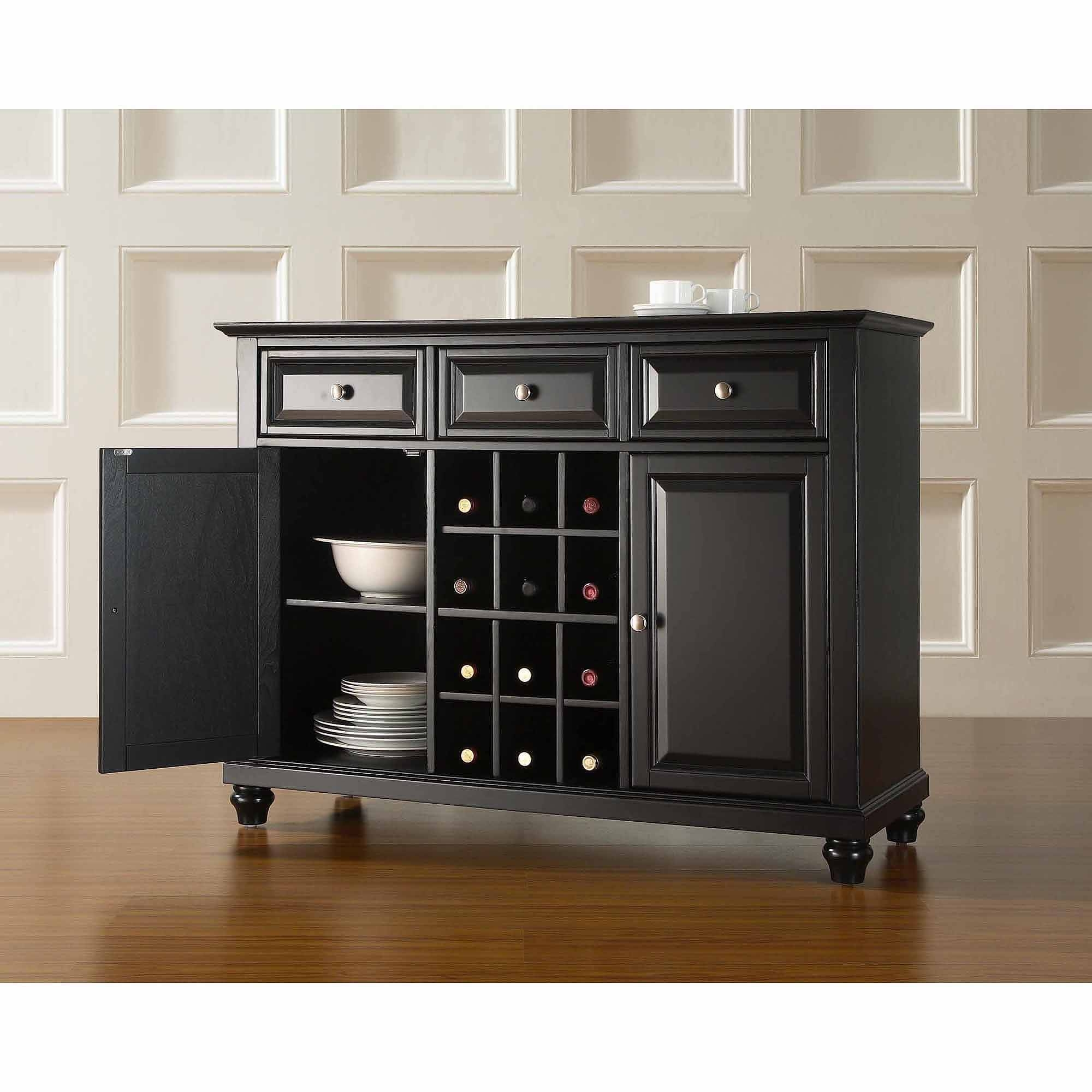 Crosley Furniture Cambridge Buffet Server And Sideboard Cabinet With Regard To Sideboards And Servers (View 7 of 15)