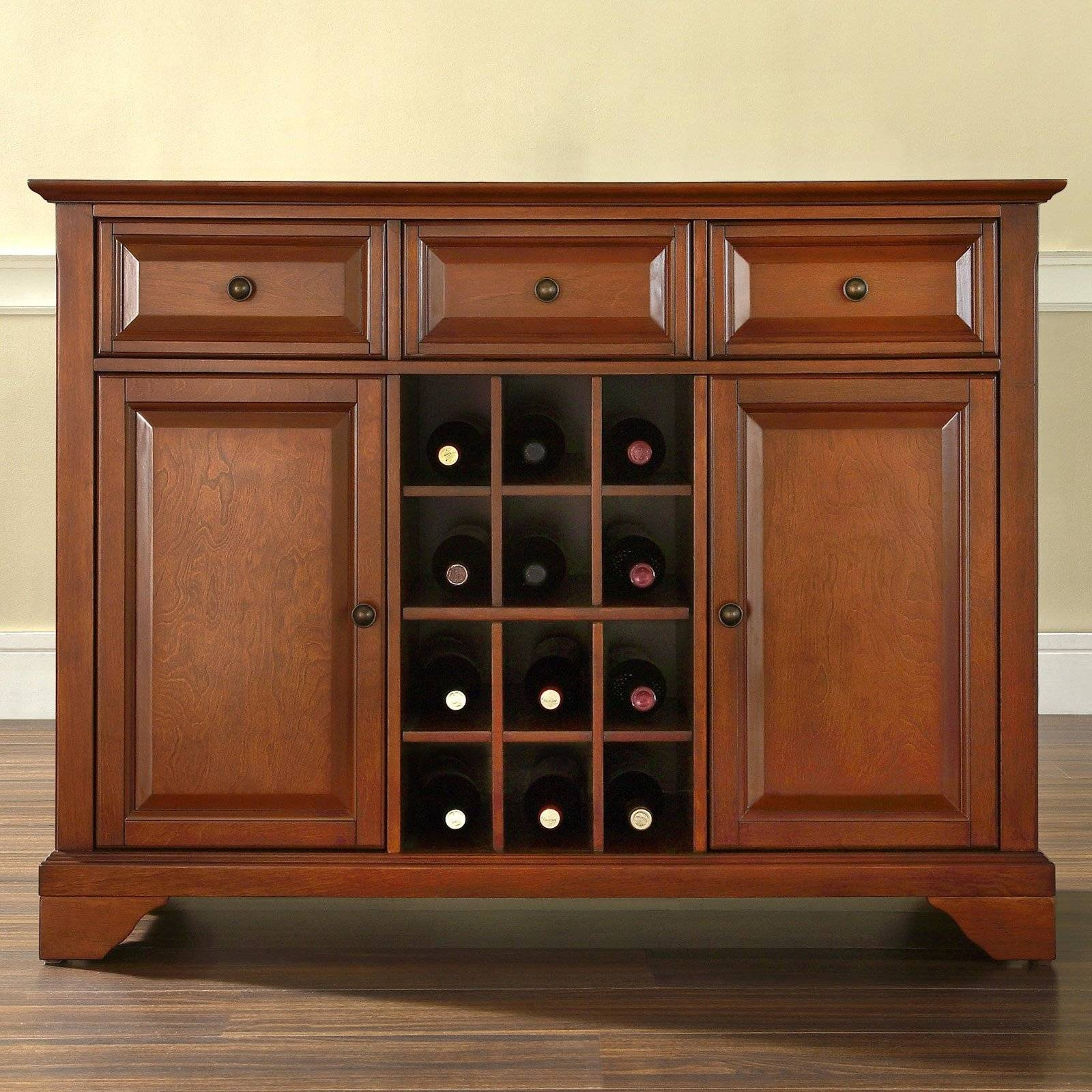 Crosley Furniture Lafayette Buffet Server And Sideboard Cabinet throughout Buffet Servers and Sideboards (Image 4 of 15)