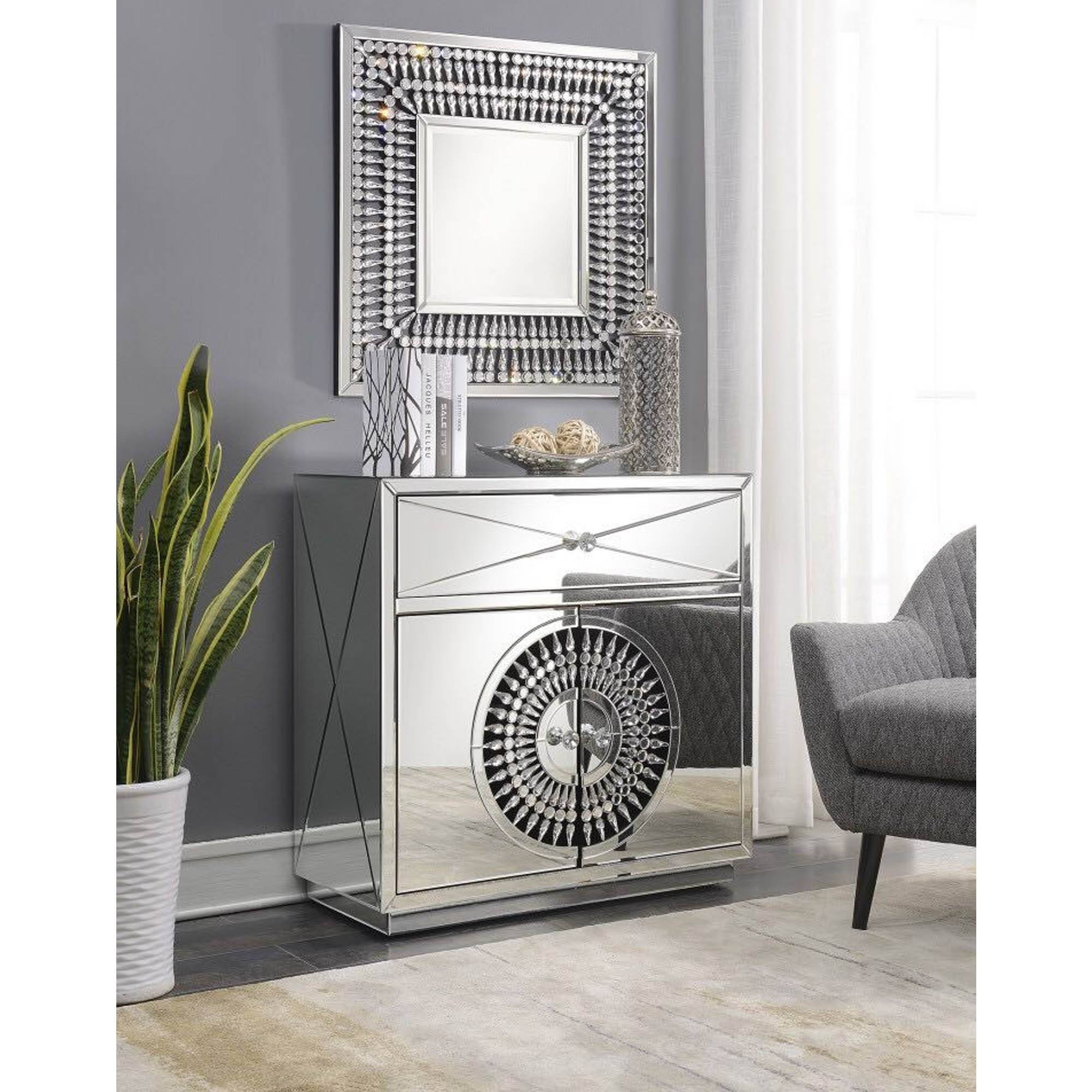 Crystal Mirrored Sideboard | Sideboard | Homesdirect365 in Mirror Sideboards (Image 3 of 15)
