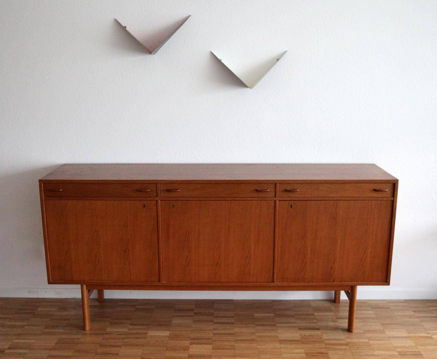 Danish Mid-Century Modern Teak Sideboard For Sale At Pamono inside Midcentury Sideboards (Image 3 of 15)