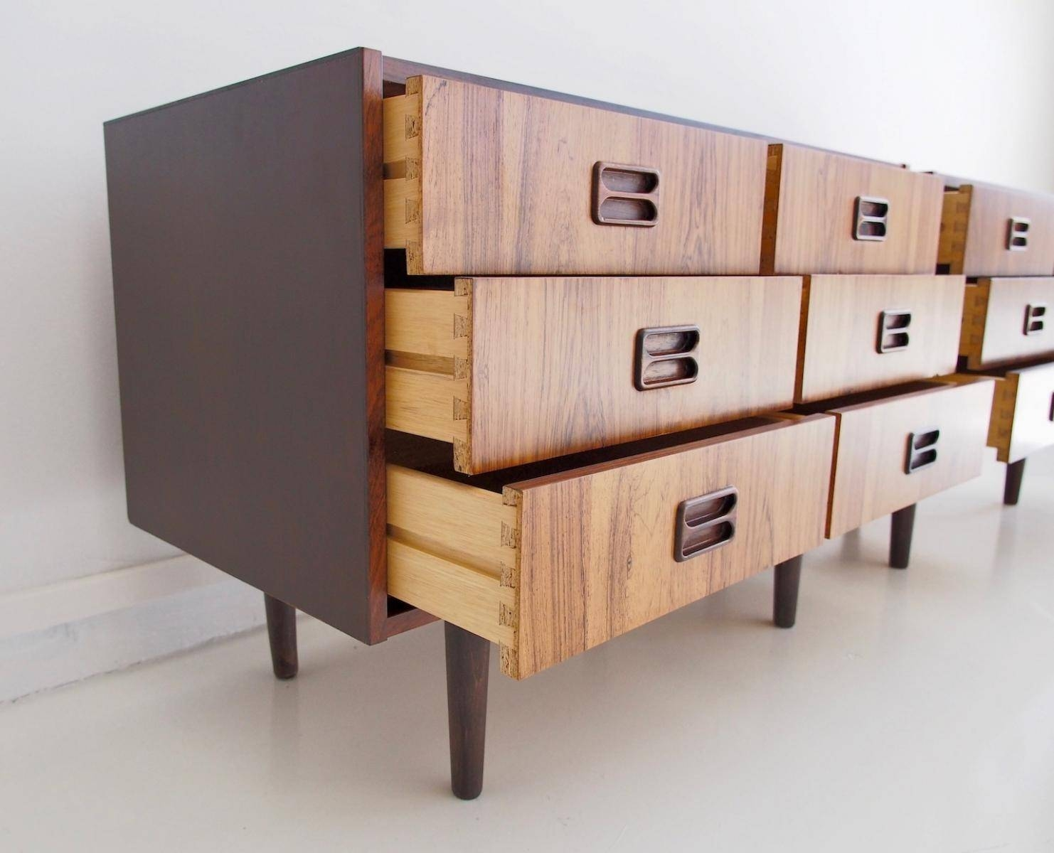 Danish Modern Sideboards With Six Drawers, 1960s, Set Of 2 For For Sideboards With Drawers (View 4 of 15)