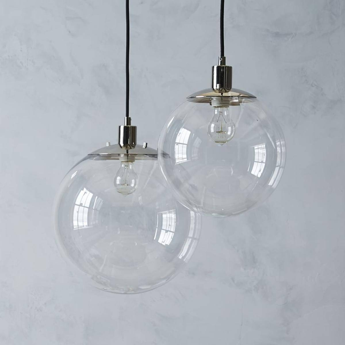 Decoration In Clear Glass Globe Pendant Light With Room Design Throughout Glass Ball Pendant Lights (View 15 of 15)