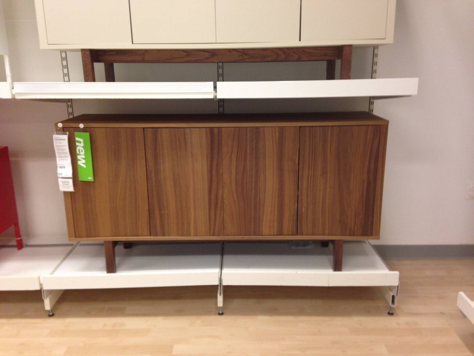 Dining Room: Antique Brown Wood Ikea Sideboard With Simple Amercok within Ikea Stockholm Sideboards (Image 3 of 15)