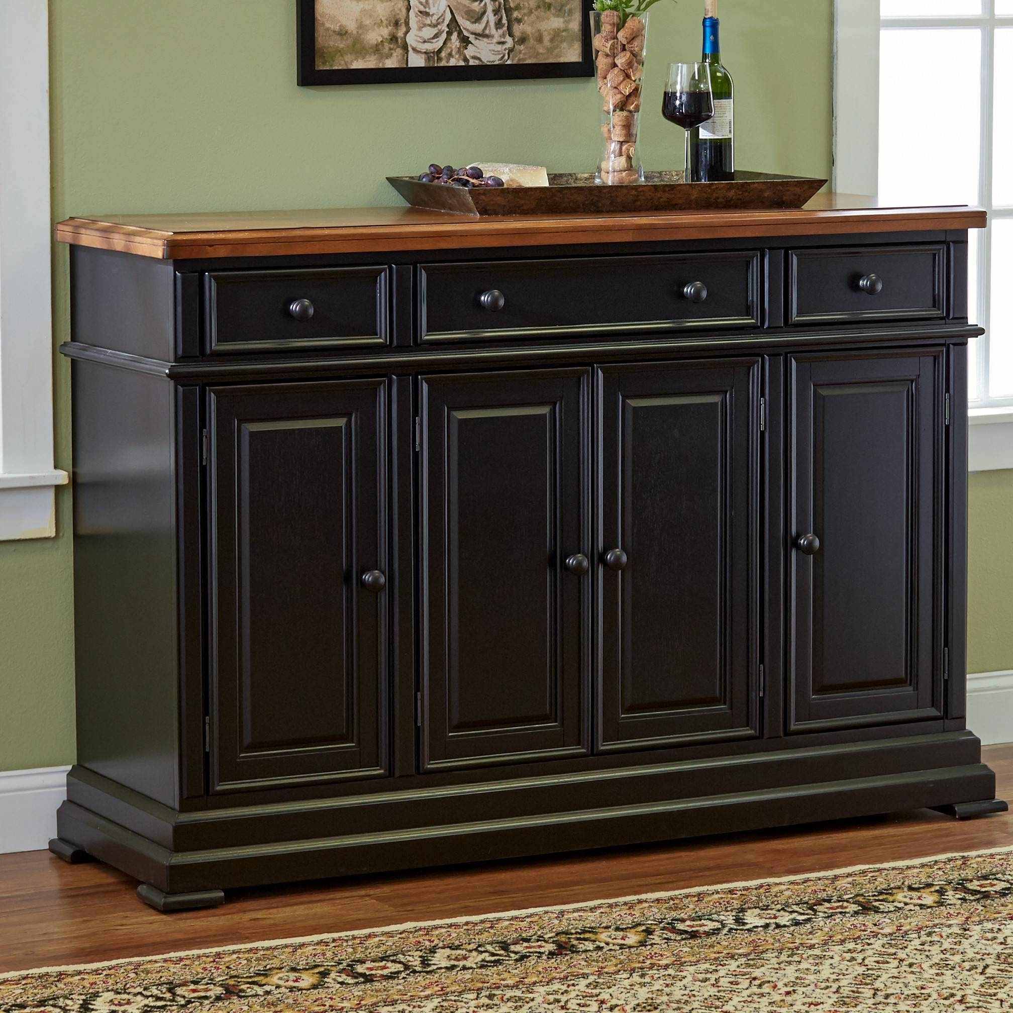 Dining Room Buffet Cabinet Sideboards Buffets Storage Servers 17 Regarding Black  Dining Room Sideboards (Image