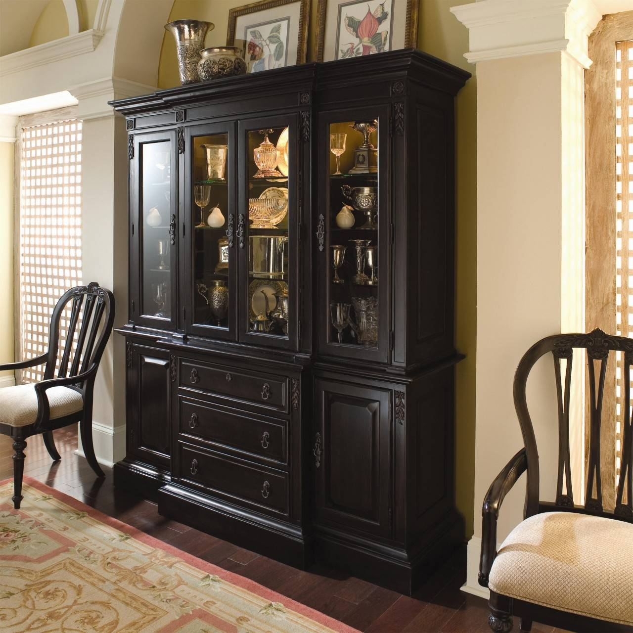Dinning China Cabinet Dining Room Buffet Small Sideboard Buffet with regard to Black Dining Room Sideboards (Image 12 of 15)