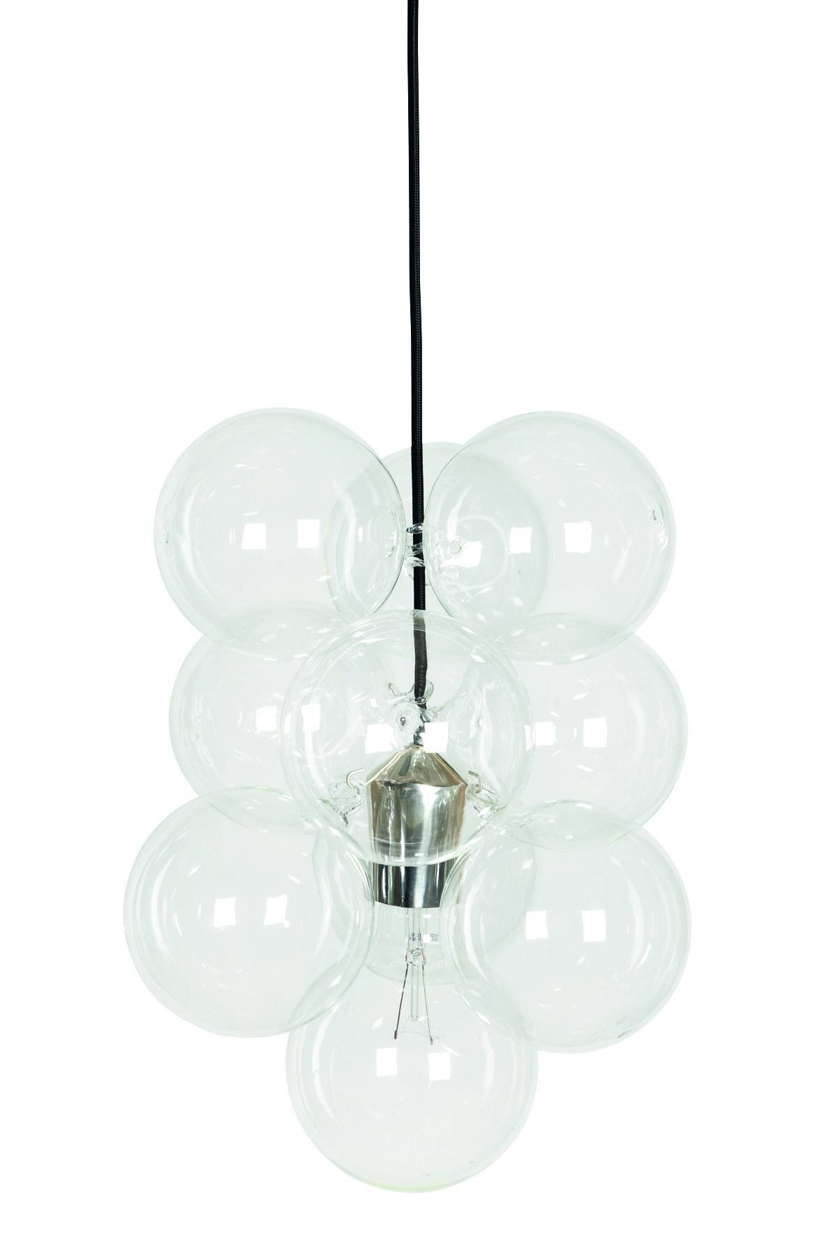 Diy Glass Bubble Pendant Ceiling Light Pertaining To Lights Image 4 Of