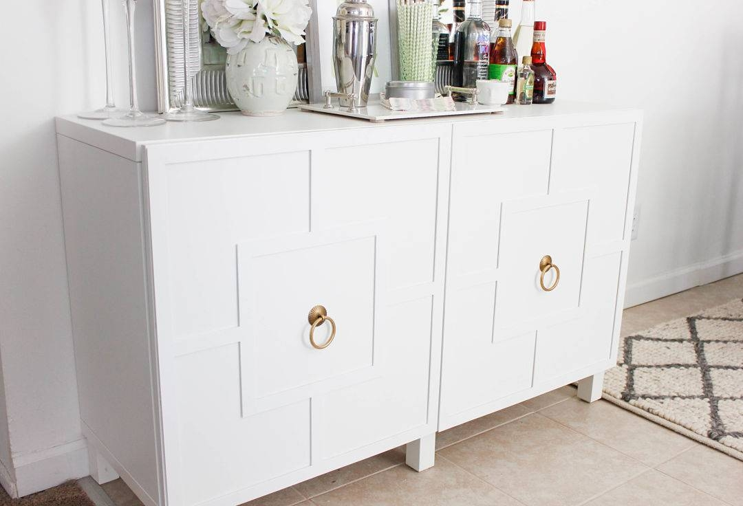 Diy Ikea Hack | Besta Cabinet Two Ways - Glam Latte for Ikea Besta Sideboards (Image 7 of 15)