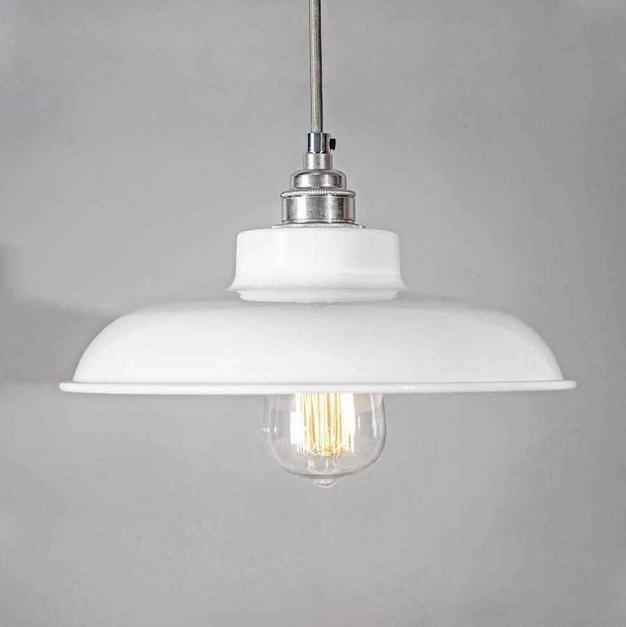 Dome Industrial Pendant Light Shadebare Bones Lighting Inside Pendant Light Shades (View 6 of 15)