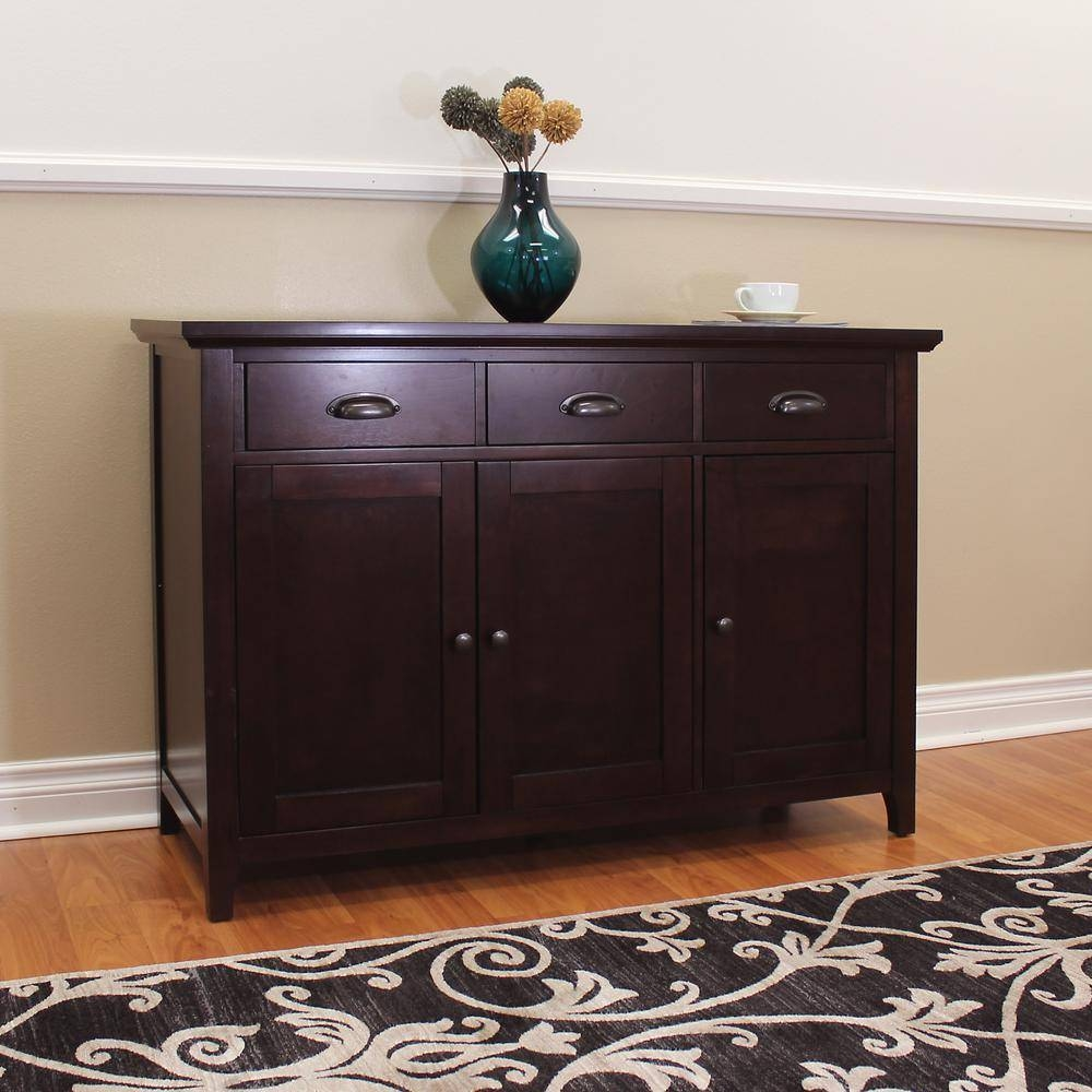 Donnieann Lindendale Espresso Sideboard/buffet Table-714160 - The throughout Sideboard Buffet Furniture (Image 8 of 15)