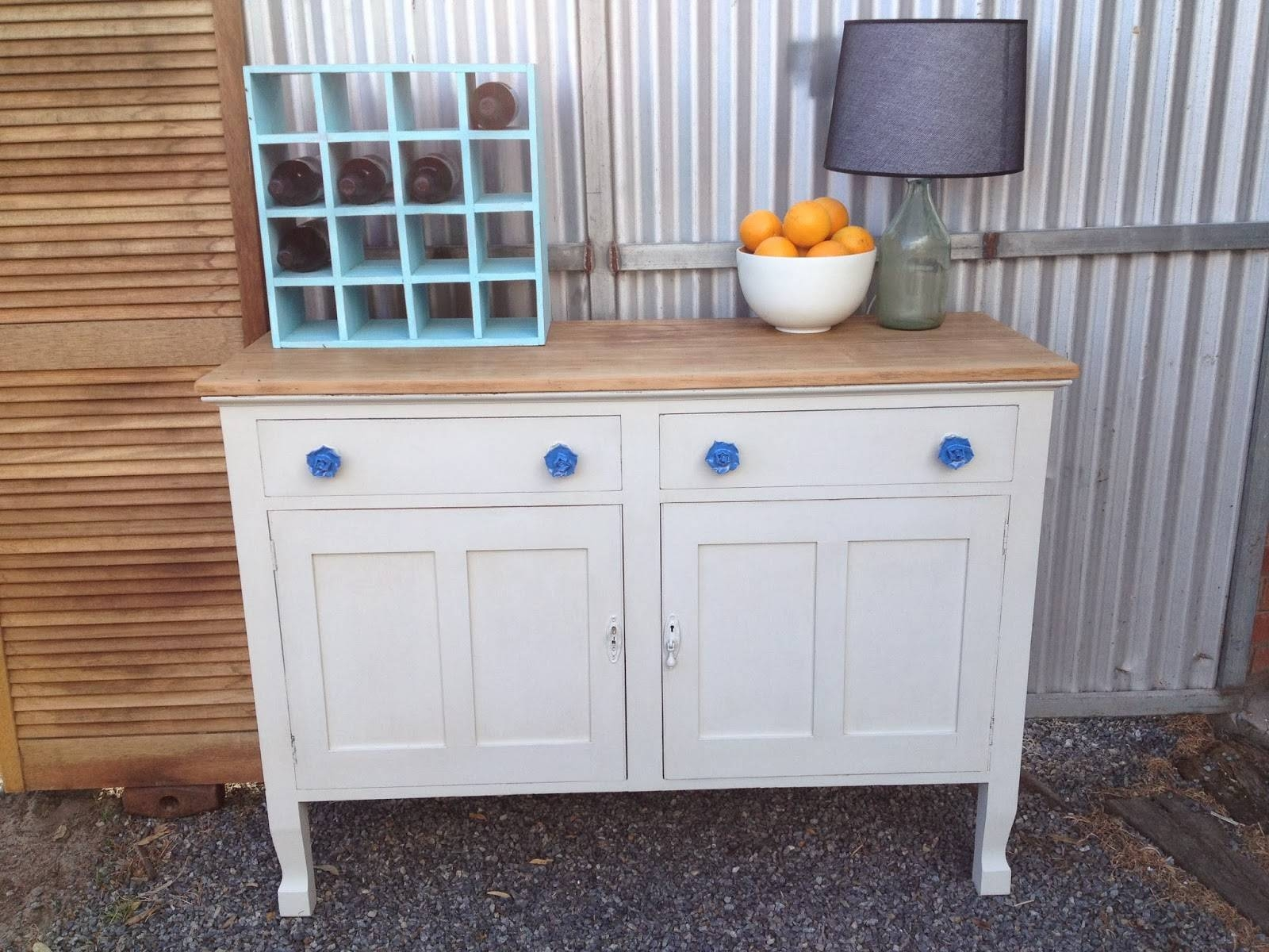 Drip Designs Furniture: Antique White Oak Buffet/sideboard within Antique White Sideboards (Image 3 of 15)