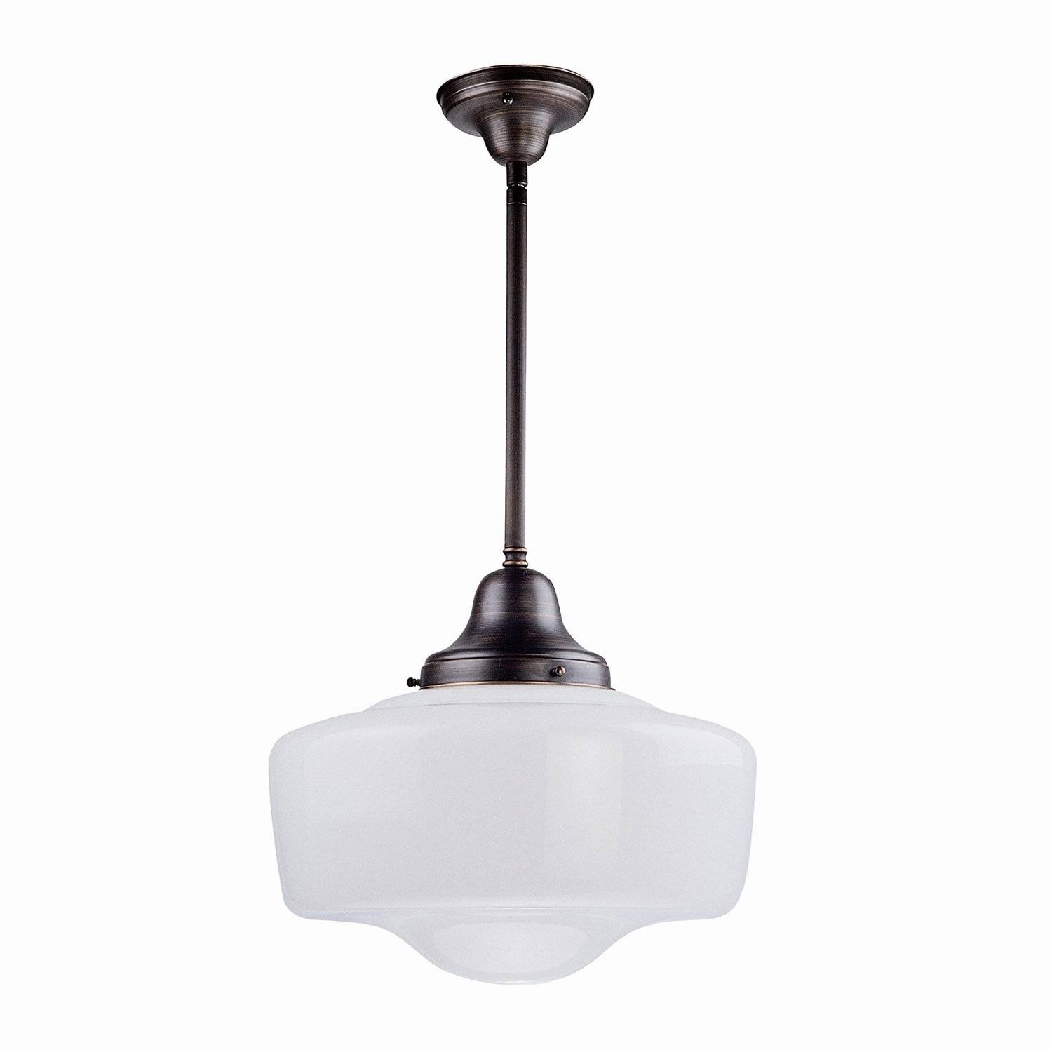 Dvi Dvp7521 Schoolhouse Pendant | Lowe's Canada regarding Schoolhouse Pendant Lights (Image 6 of 15)