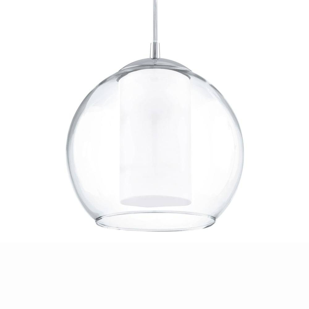Eglo 92761 Bolsano Clear Glass Globe Pendant Light for Clear Glass Globe Pendant Light Fixtures (Image 1 of 15)