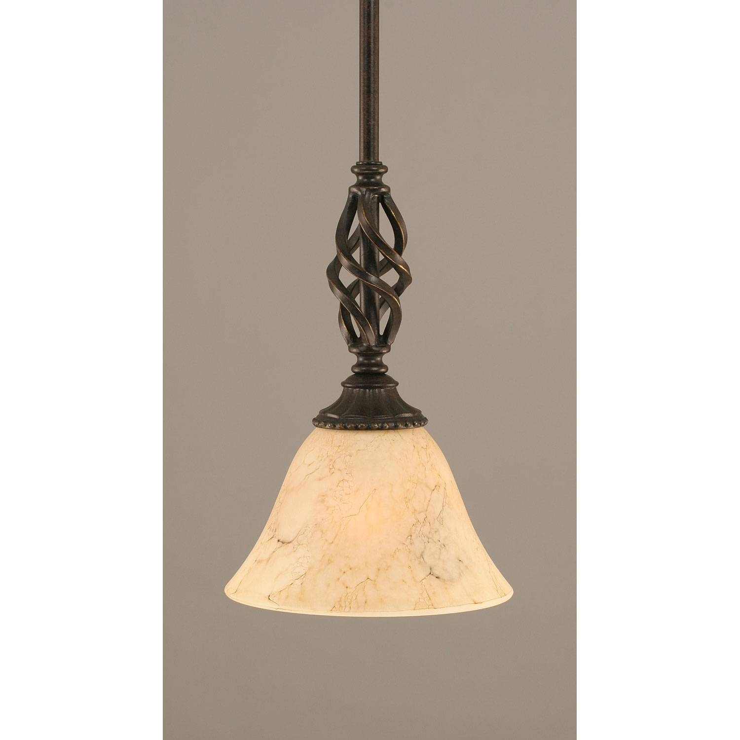 Elegante Dark Granite One Light Mini Pendant With Italian Marble Within Shades Glass Mini Pendant Light (View 3 of 15)