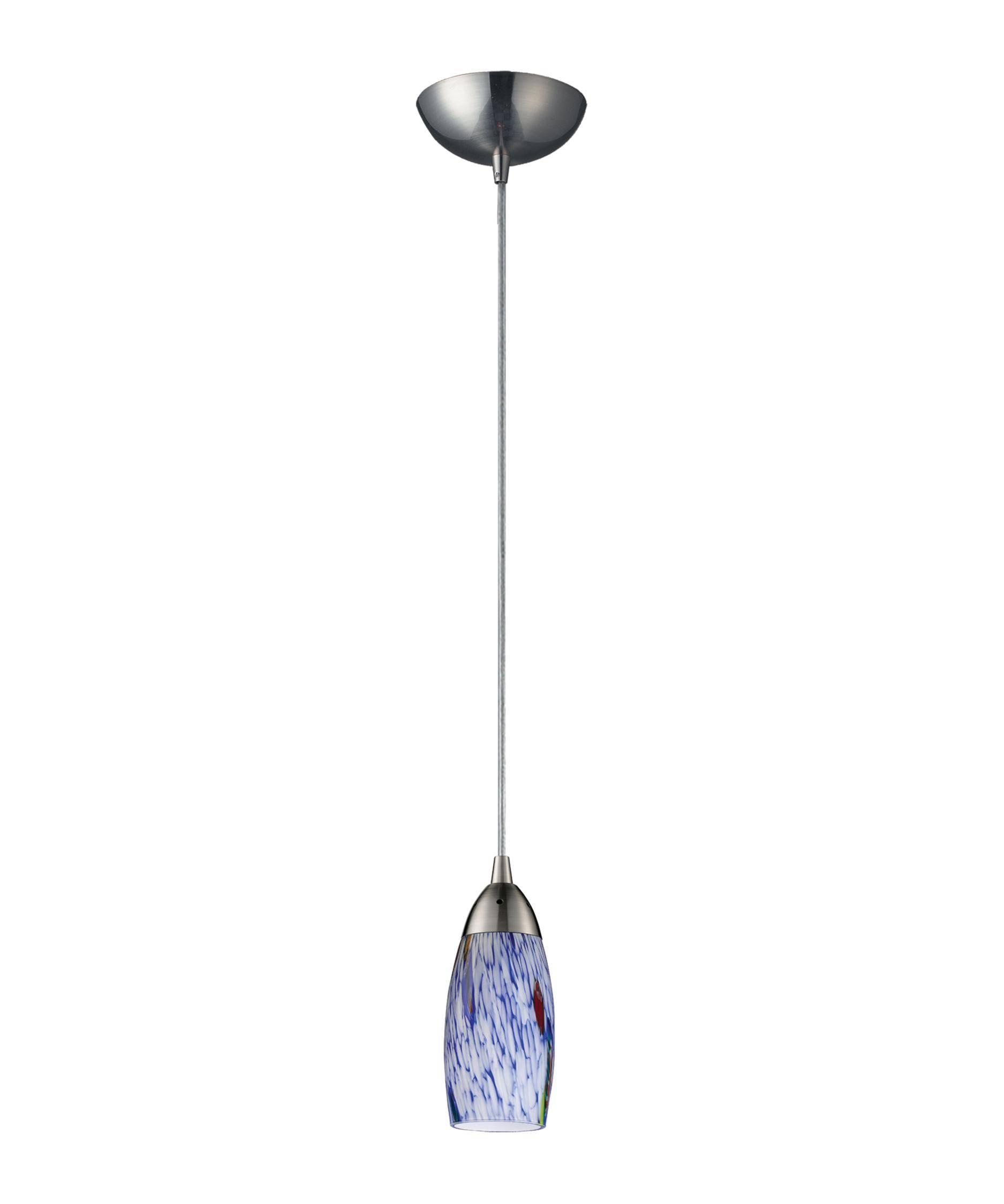 Elk Lighting 110-1 Milan 3 Inch Wide 1 Light Mini Pendant pertaining to Mini Pendant Lights (Image 4 of 15)