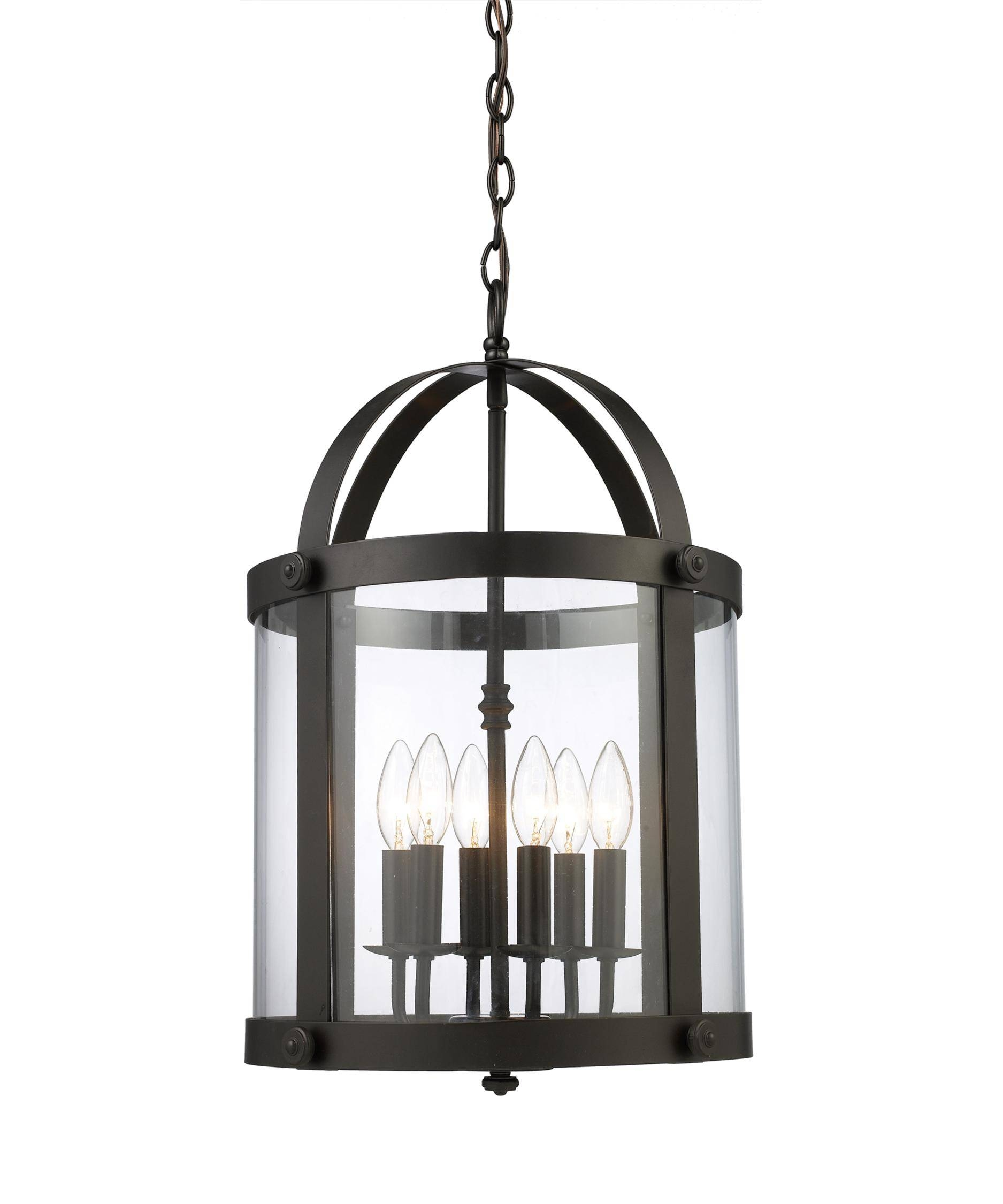 Elk Lighting 66282 6 Chesapeake 14 Inch Wide Foyer Pendant Intended For Foyer Pendant Light Fixtures (View 7 of 15)