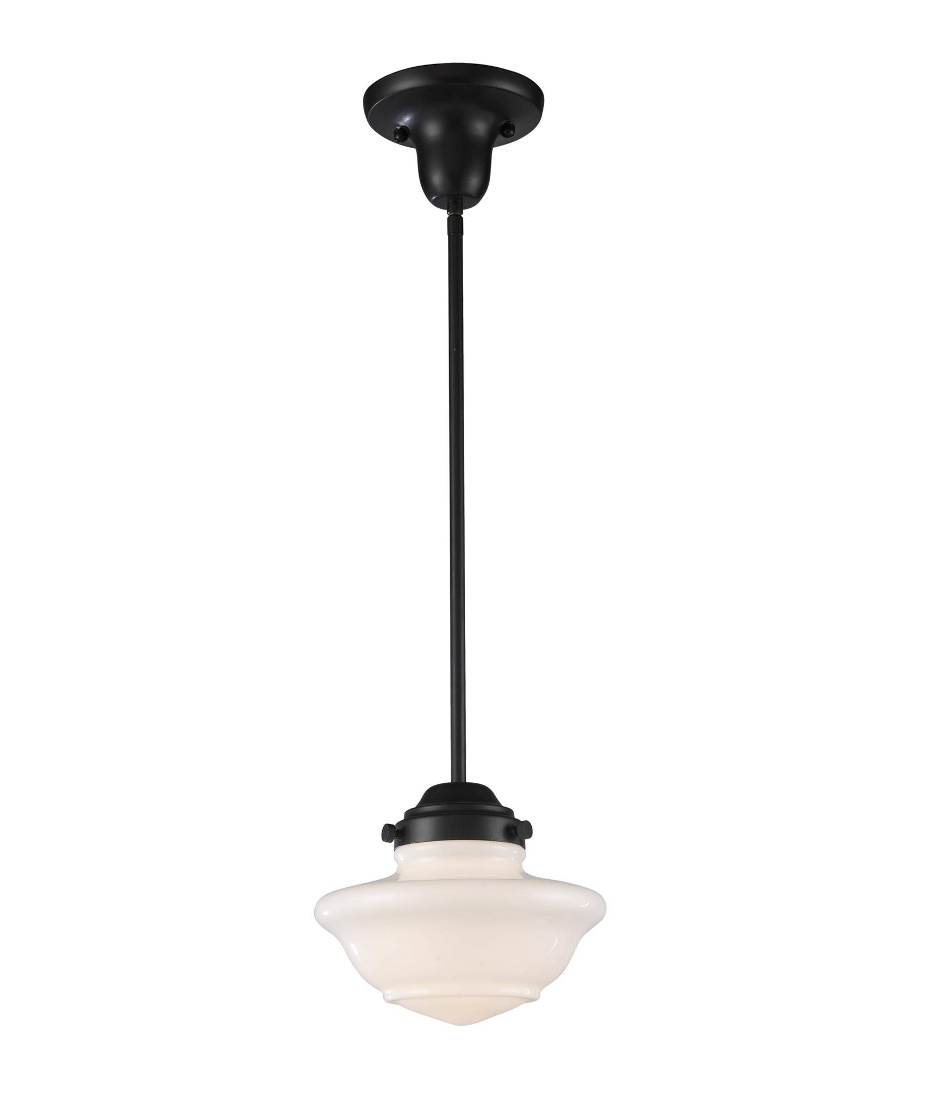 Elk Lighting 69052-1 Schoolhouse 8 Inch Wide 1 Light Mini Pendant inside Schoolhouse Pendant Lights (Image 7 of 15)
