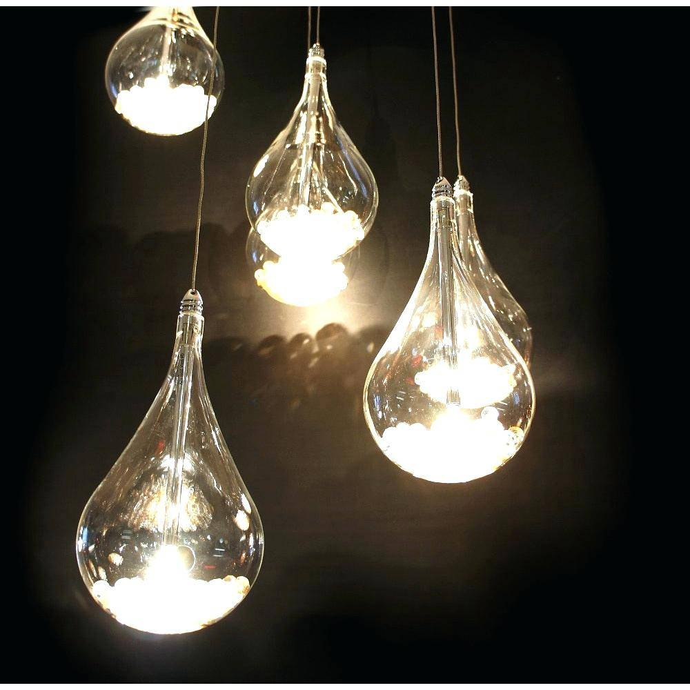 Elomy.co Page 98: Linear Pendant Lighting. Teardrop Pendant Light within Crystal Teardrop Pendant Lights (Image 5 of 15)