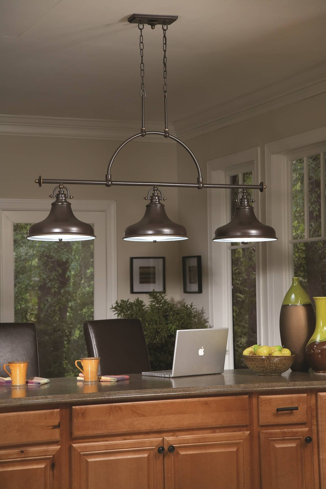 Emery 3 Light Island Ceiling Pendant | Kitchen Lighting Throughout 3 Light Pendants For Island Kitchen Lighting (View 11 of 15)