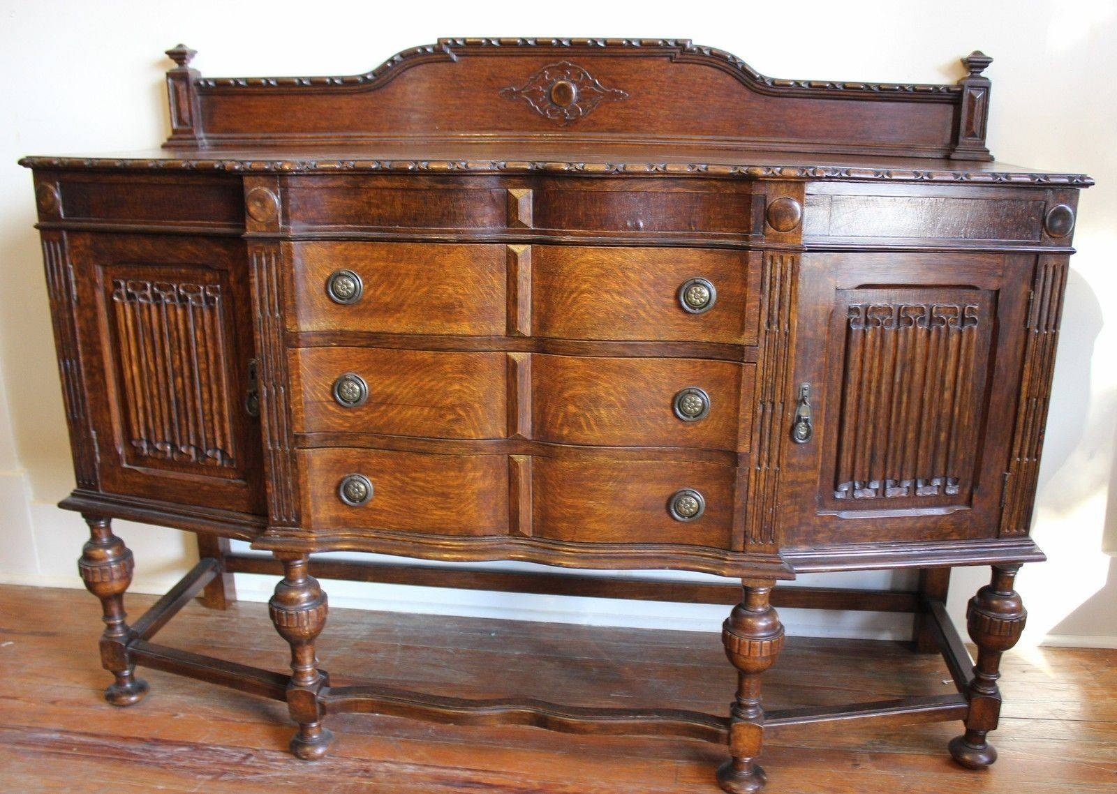 English Antique Jacobean Sideboard / Buffet And 50 Similar Items Inside Jacobean Sideboards Buffets (Image 8 of 15)