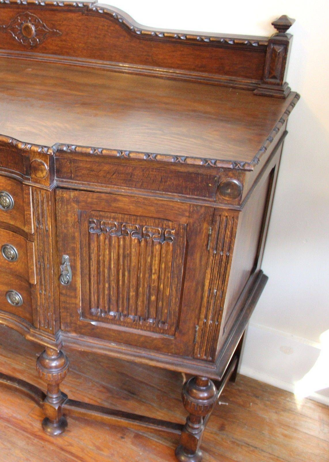 English Antique Jacobean Sideboard / Buffet And 50 Similar Items Regarding Jacobean Sideboards Buffets (Image 9 of 15)