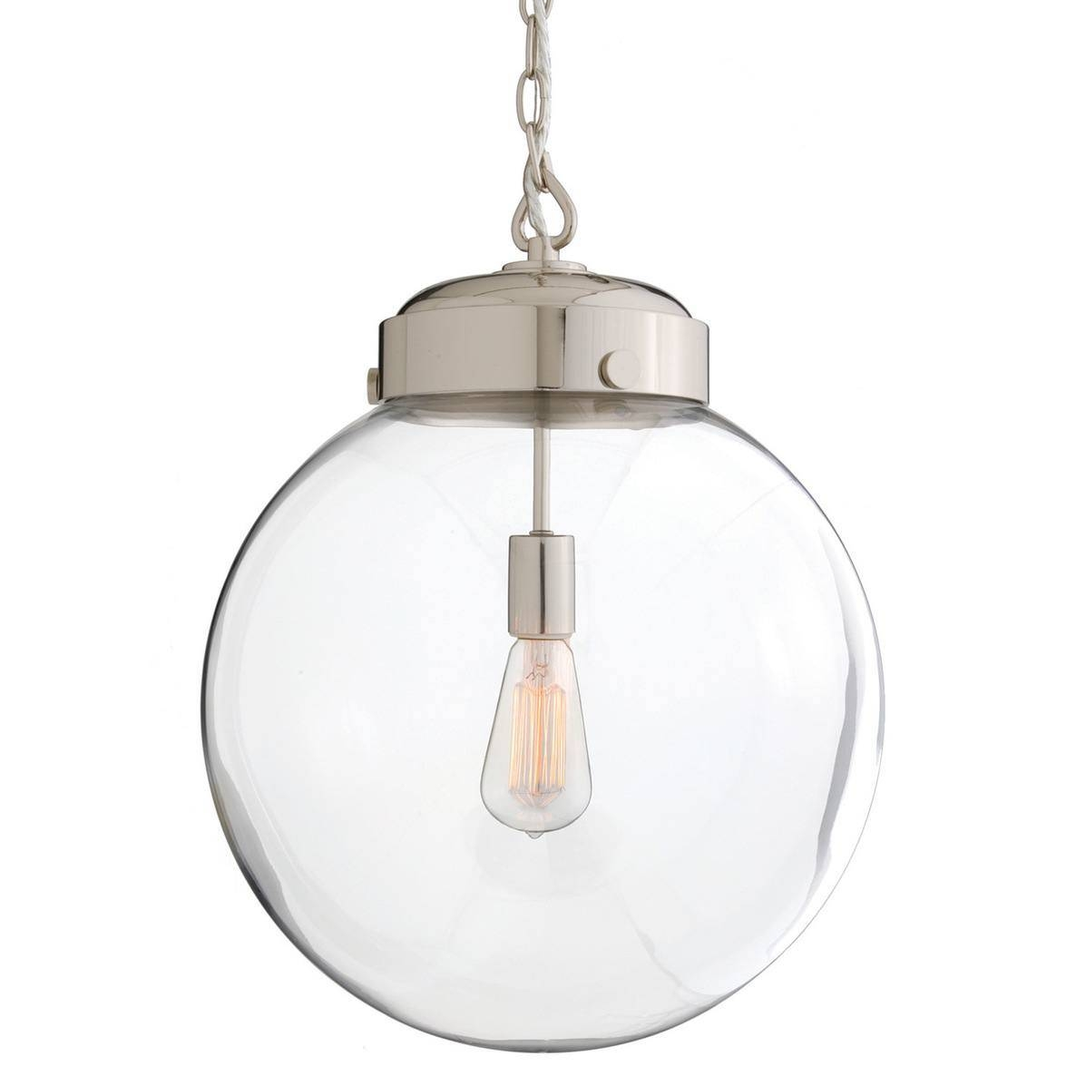 Epic Round Glass Pendant Light With Additional Industrial Ceiling with regard to Round Glass Pendant Lights (Image 5 of 15)