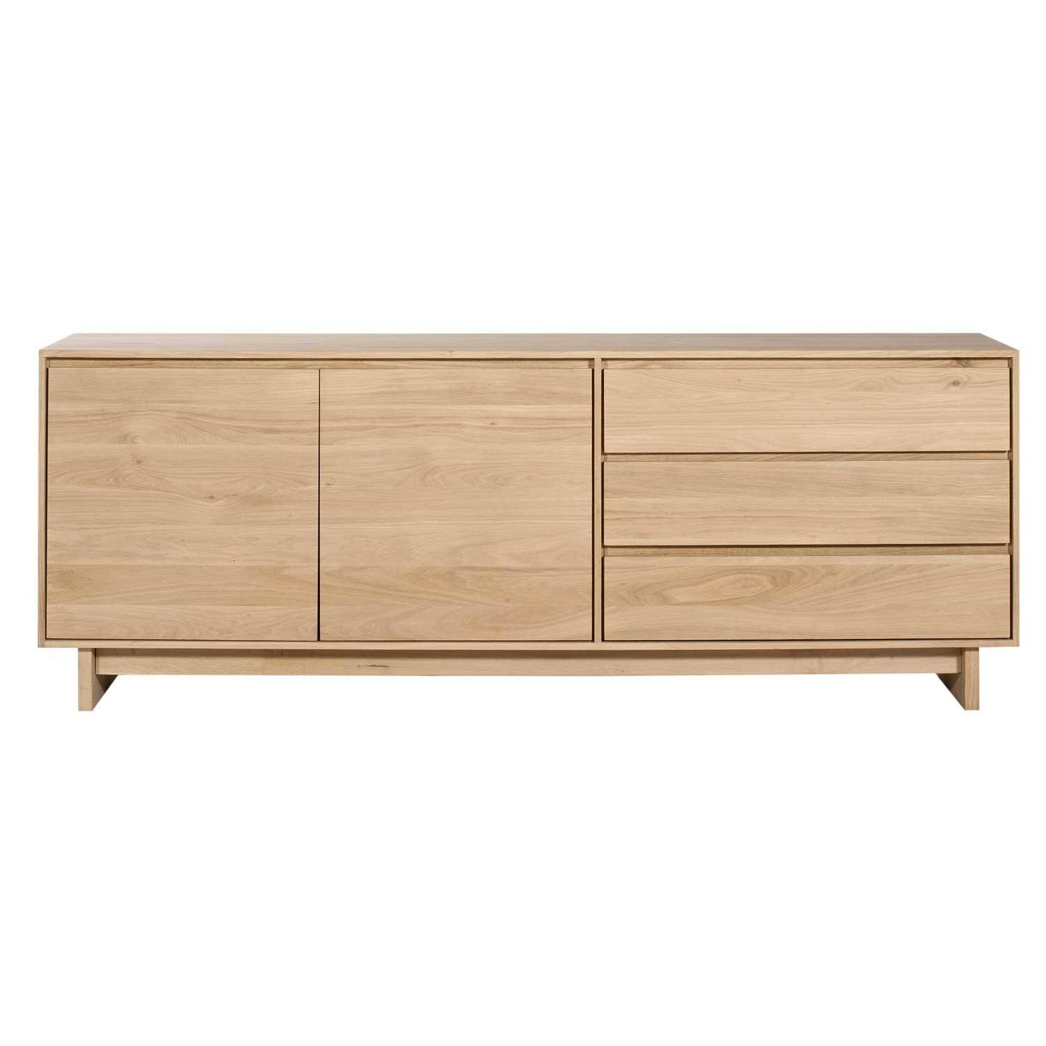 Ethnicraft Oak Wave Sideboard with regard to Small Low Sideboards (Image 6 of 15)