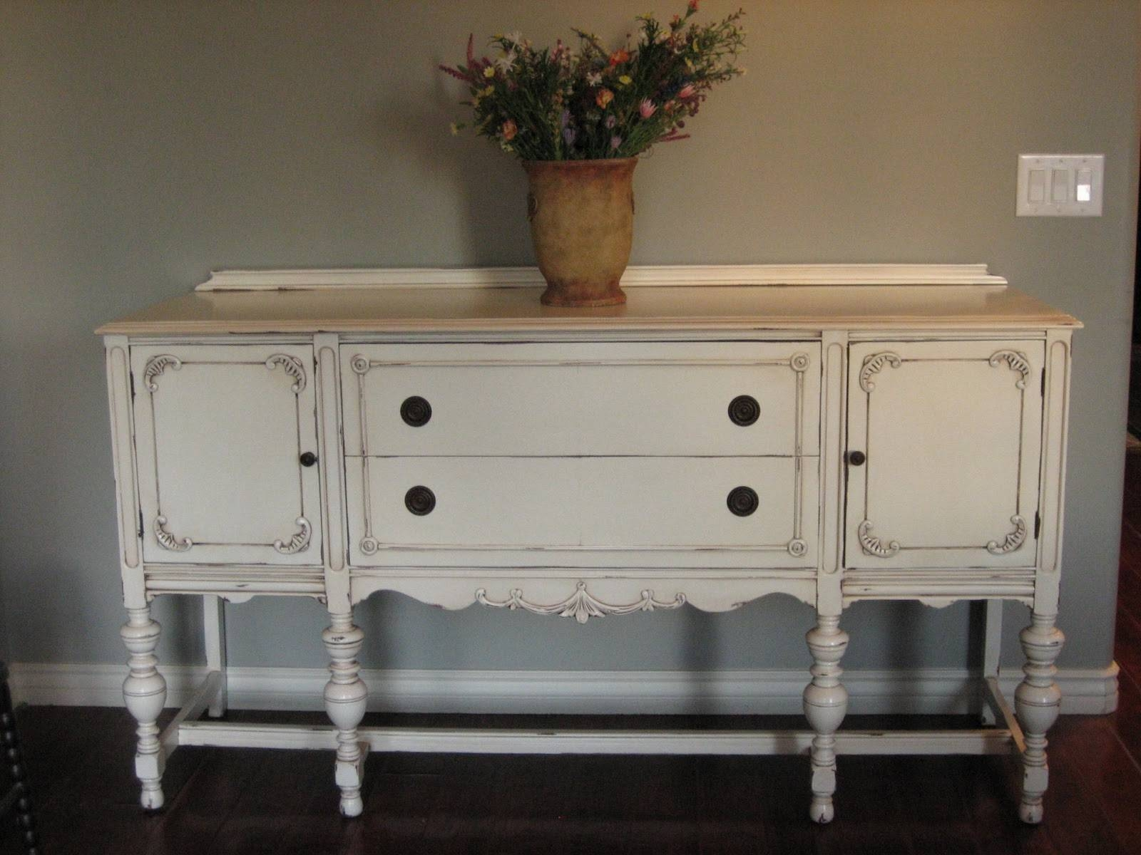 European Paint Finishes: ~ Another Pretty Antique Sideboard ~ within Painted Sideboards and Buffets (Image 2 of 15)