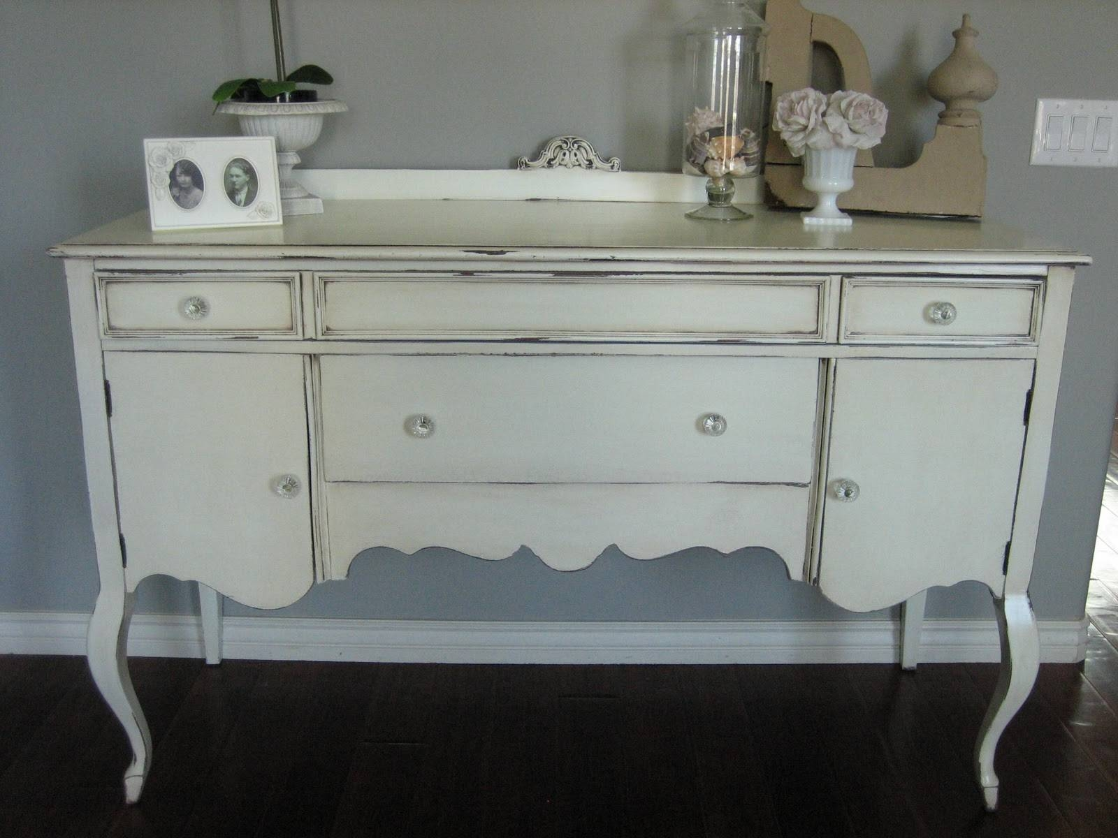 European Paint Finishes: ~ Shabby Chic Antique Sideboard ~ With Shabby Chic Sideboards (View 4 of 15)