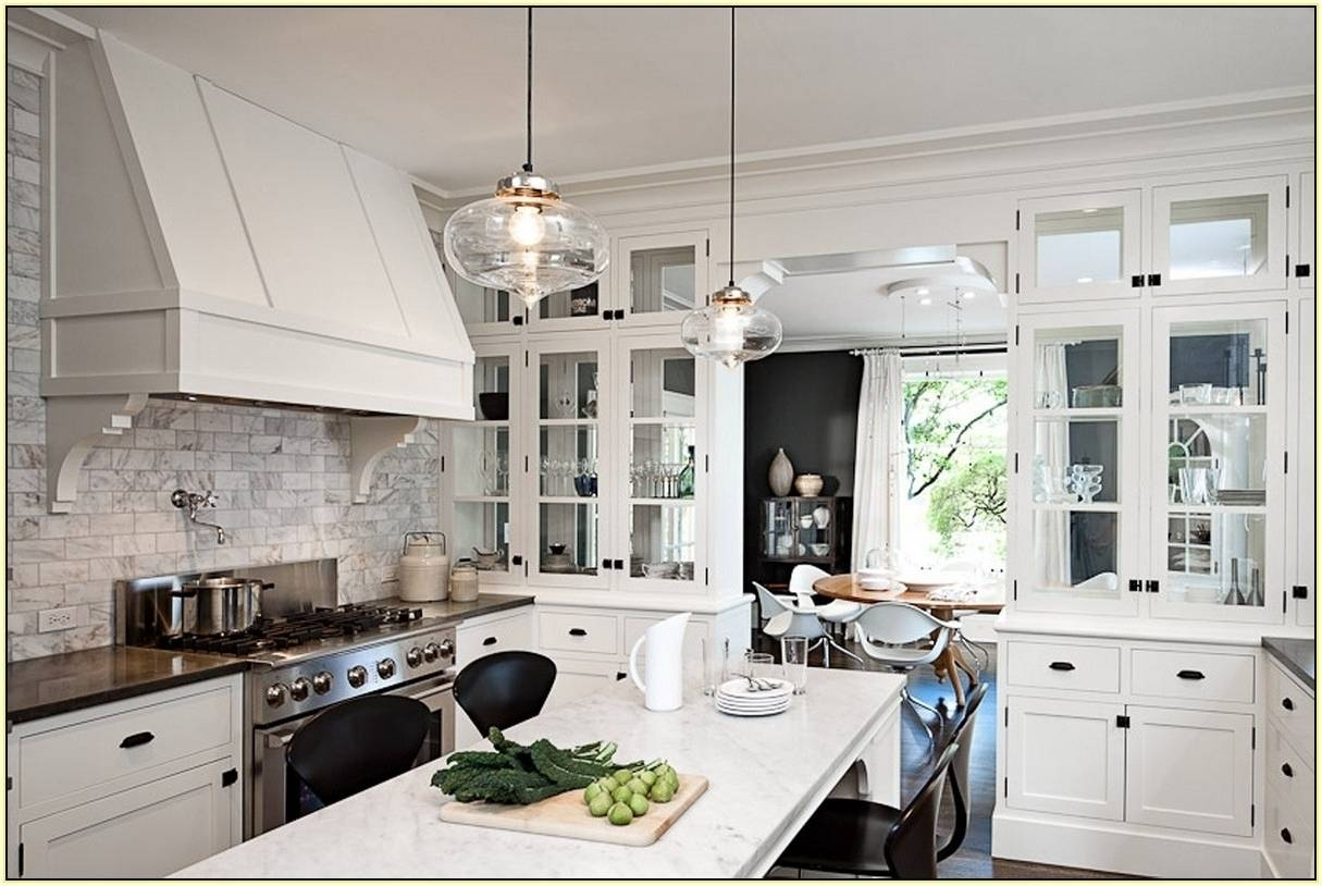 Excellent Glass Pendant Lights For Kitchen Island Design Ideas Inside Pendant Lighting Over Island (View 14 of 15)