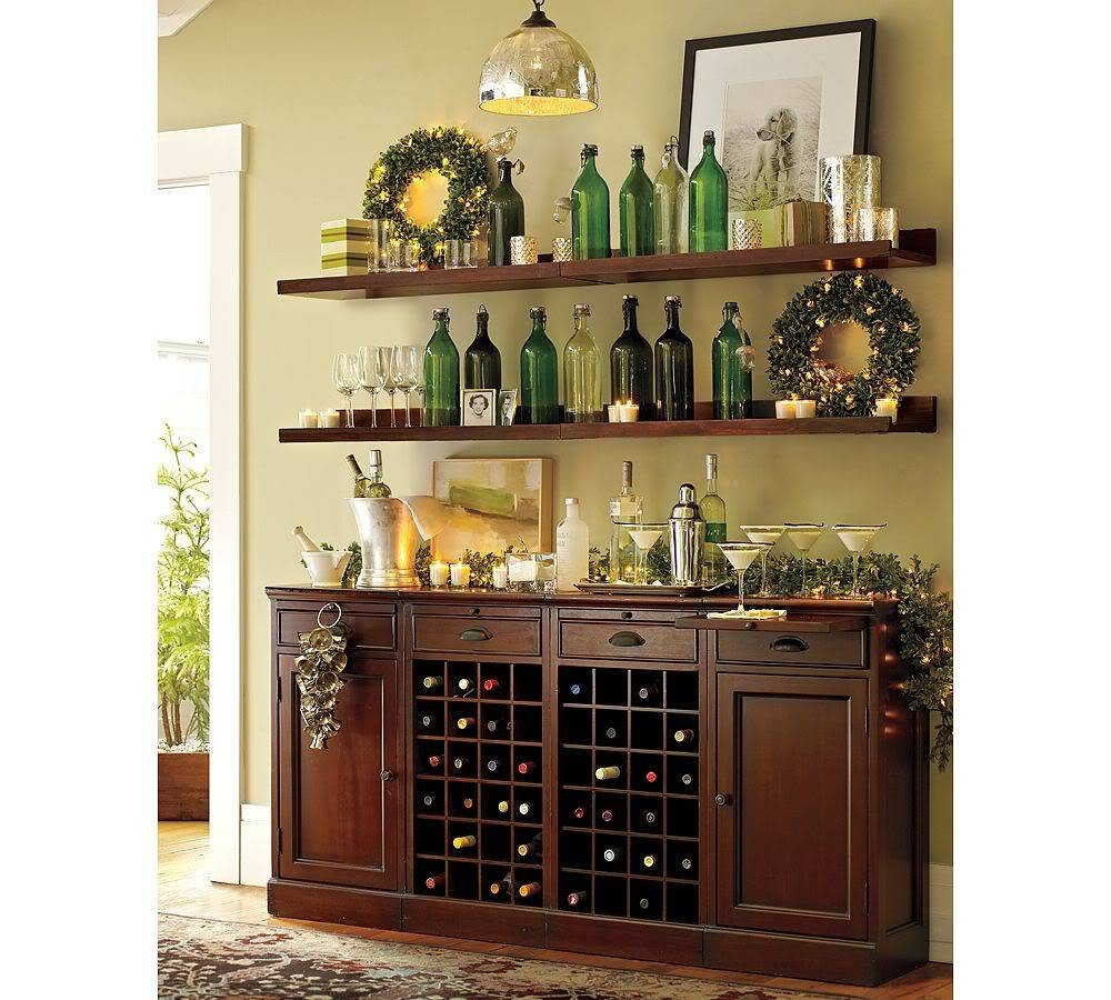 Excellent Kitchen Buffet Cabinet With Wine Rack 2 Sweetlooking pertaining to Wine Sideboards (Image 3 of 15)