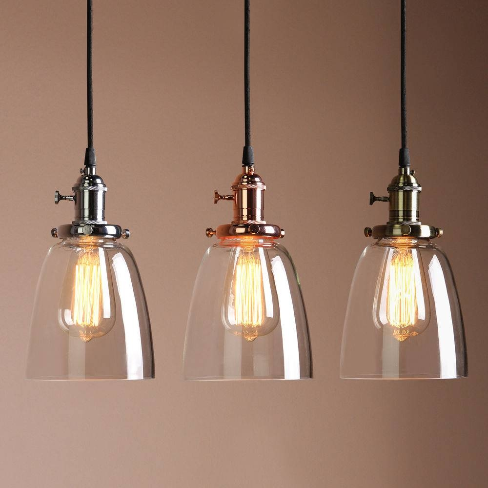 Featured Photo of Industrial Glass Pendant Lights