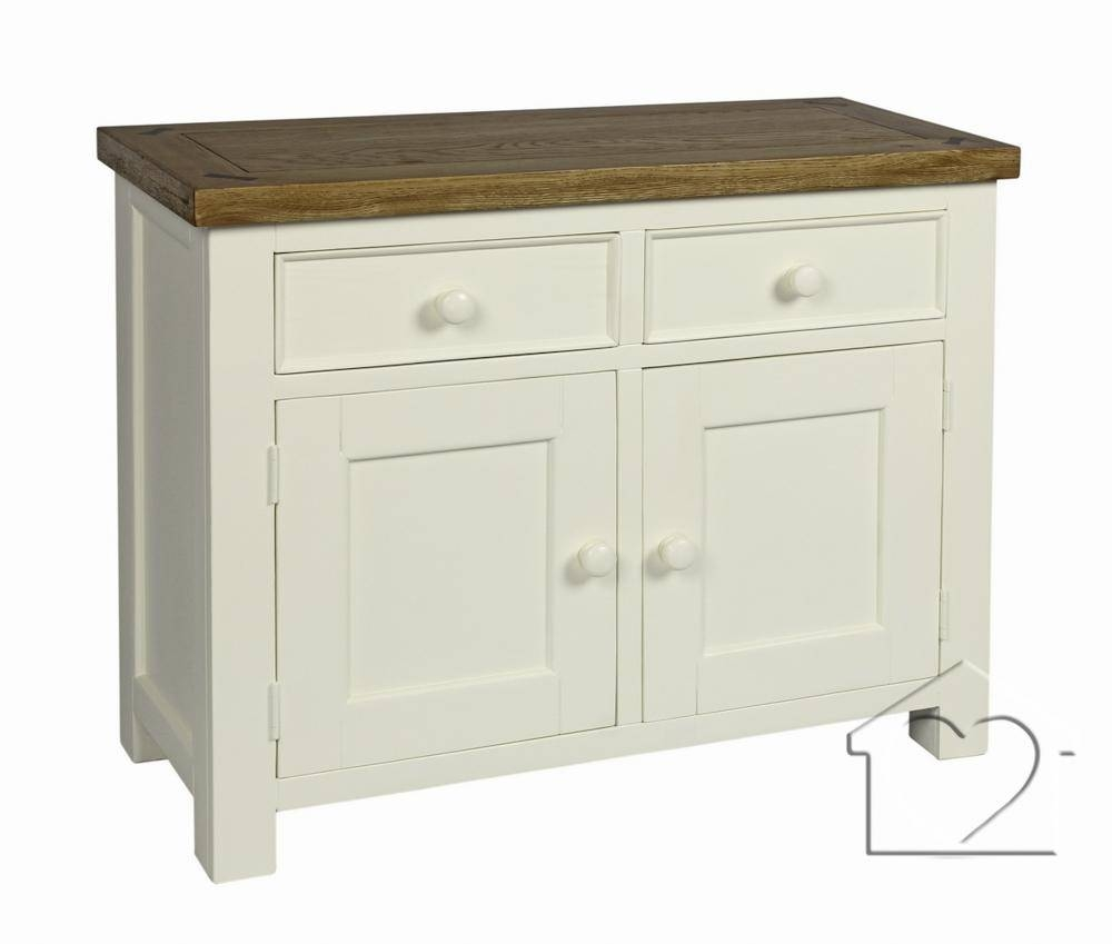 Farmhouse Cream 2 Drawer 2 Door Sideboard - £259.00 - A Fantastic with Cream And Oak Sideboards (Image 6 of 15)
