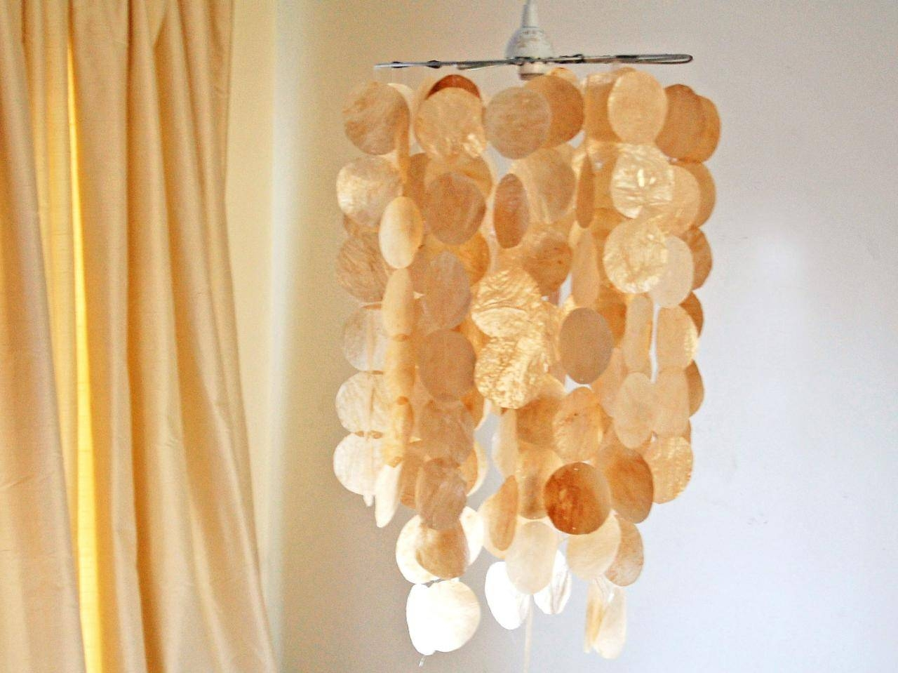 Faux Capiz Shell Pendant | Hgtv With Shell Pendant Lights (View 8 of 15)
